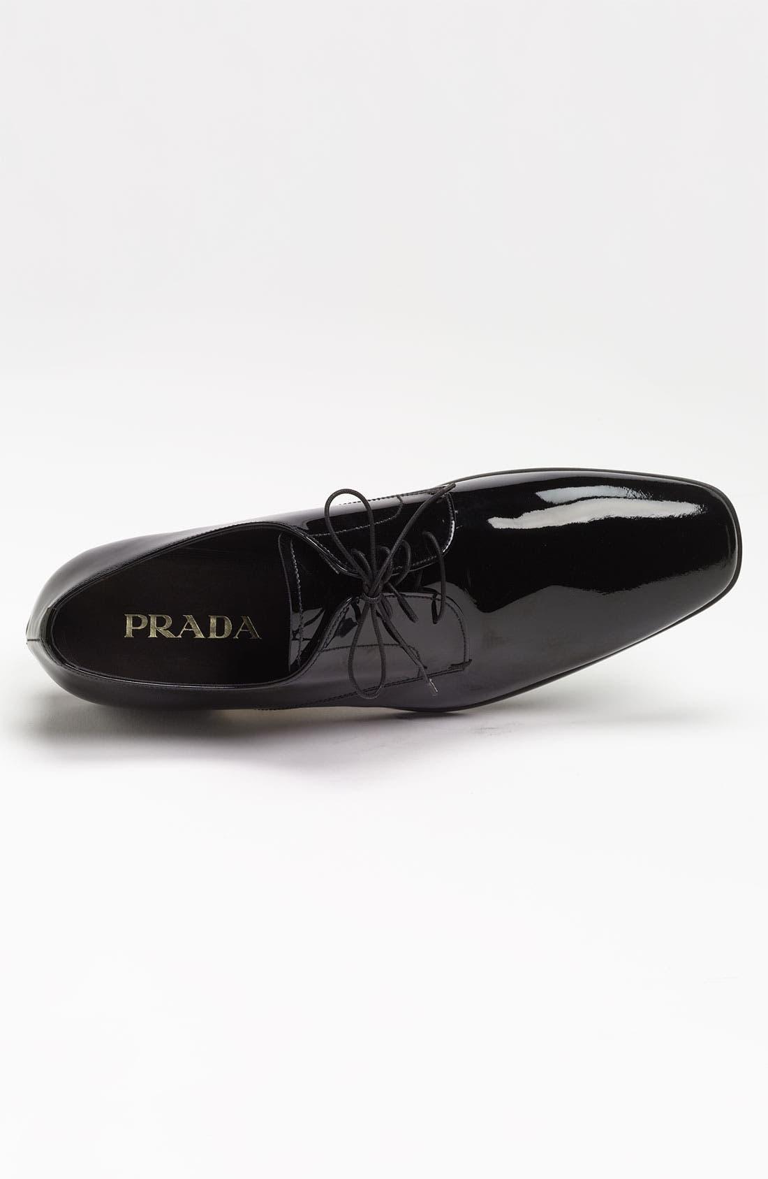 Alternate Image 3  - Prada Plain Toe Patent Derby