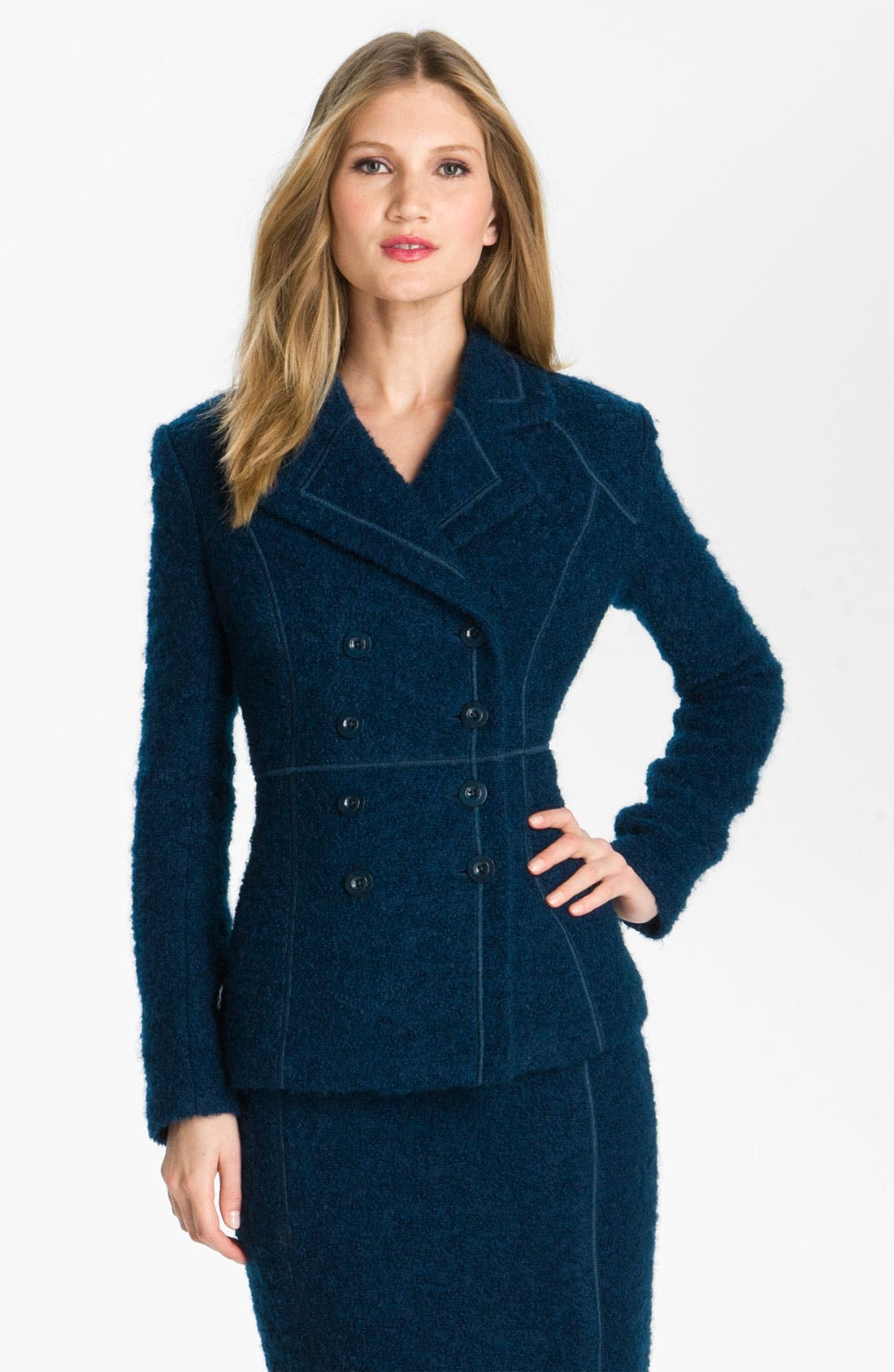 Alternate Image 2  - St. John Collection Double Breasted Bouclé Jacket