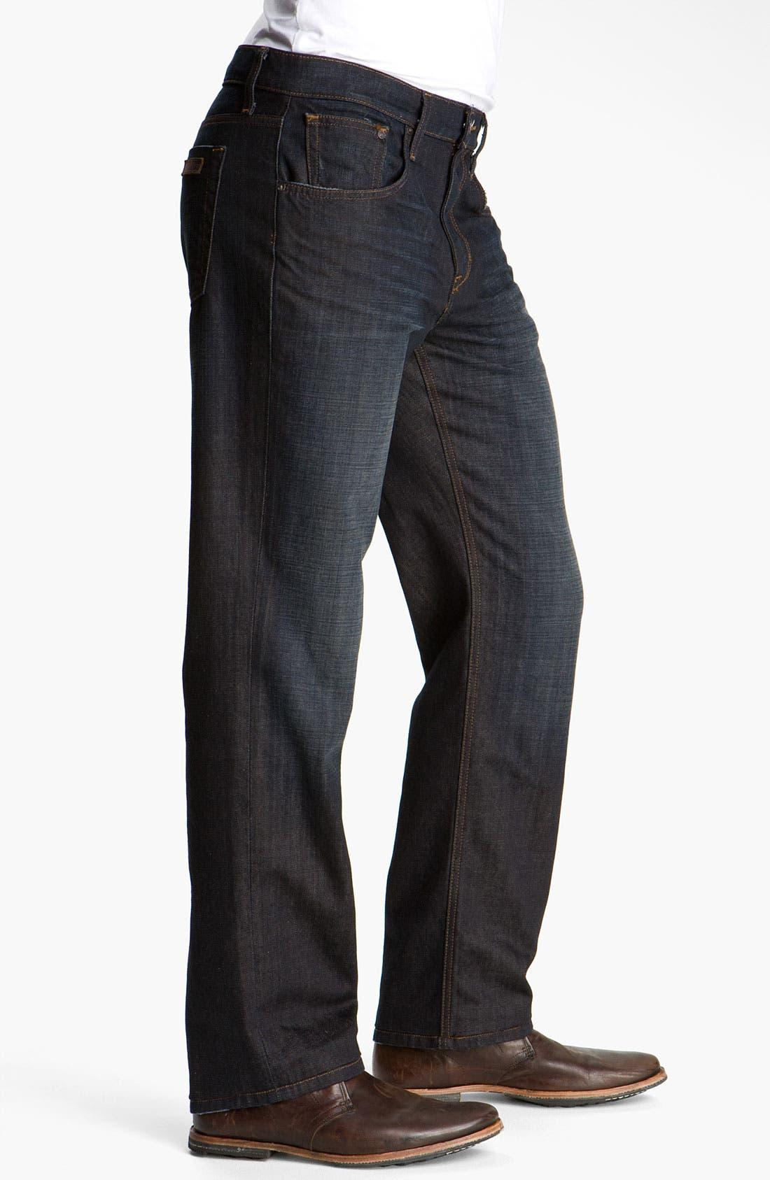 Alternate Image 3  - Joe's 'Rebel' Relaxed Straight Leg Jeans (Fields Dark Blue)