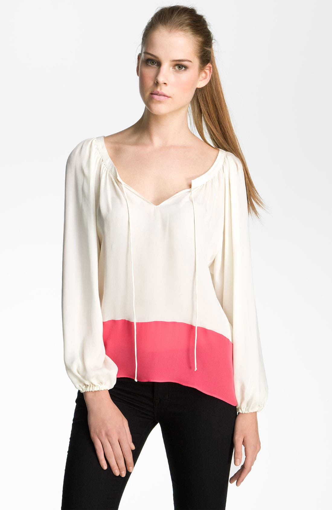Alternate Image 1 Selected - Parker Colorblock Silk Blouse
