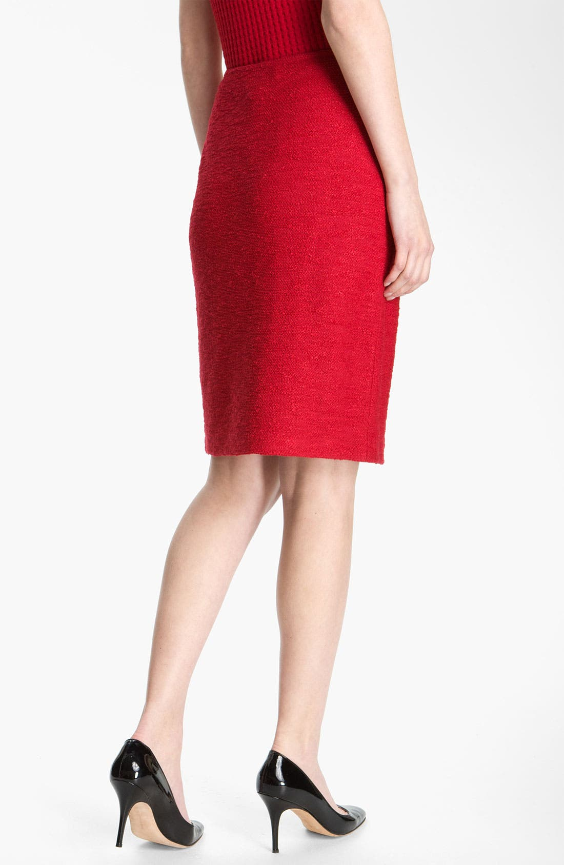 Alternate Image 3  - St. John Collection Frise Knit Pencil Skirt