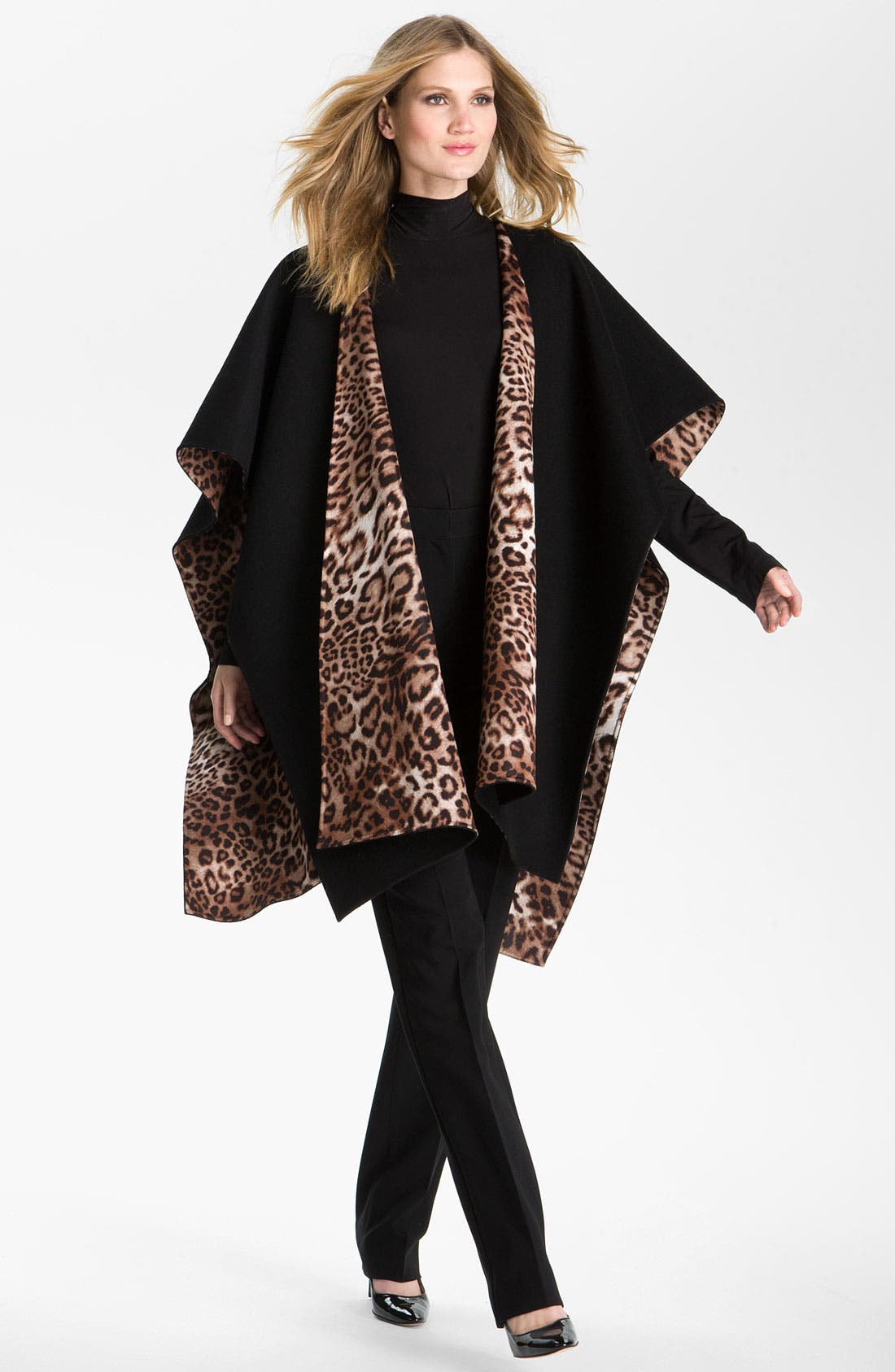 Main Image - St. John Collection Poncho, Turtleneck & Pants