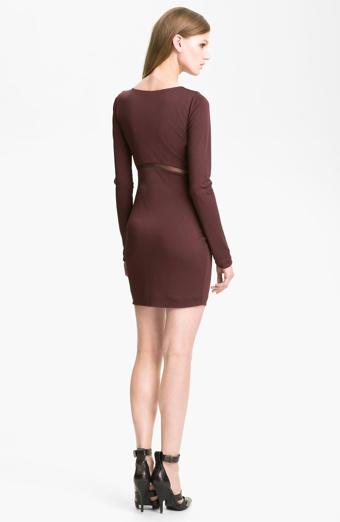 Alternate Image 2  - T by Alexander Wang Mesh Inset Knit Sheath Dress