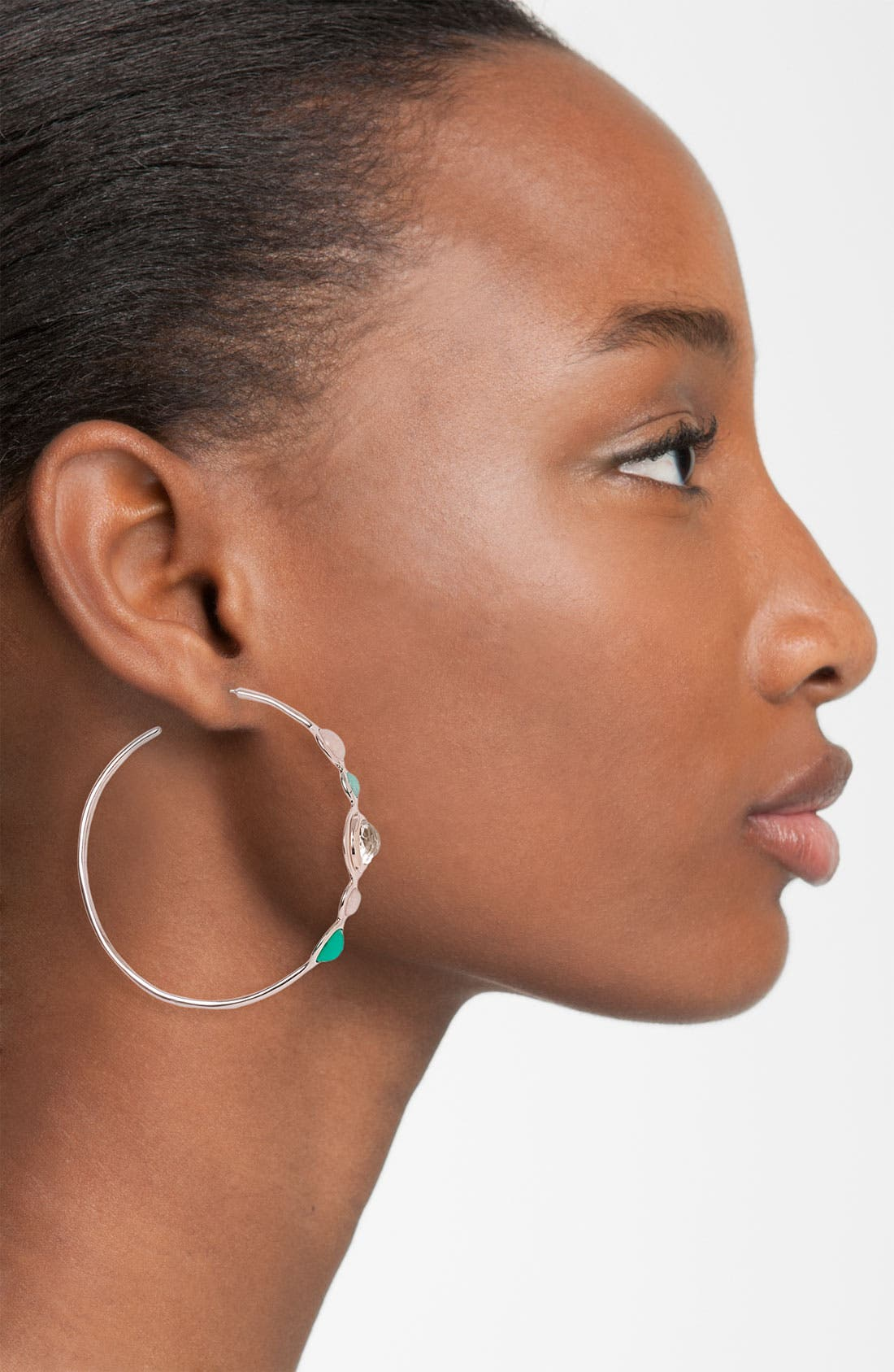 Alternate Image 2  - Ippolita 'Sun Kissed' 5-Stone Rosé Hoop Earrings