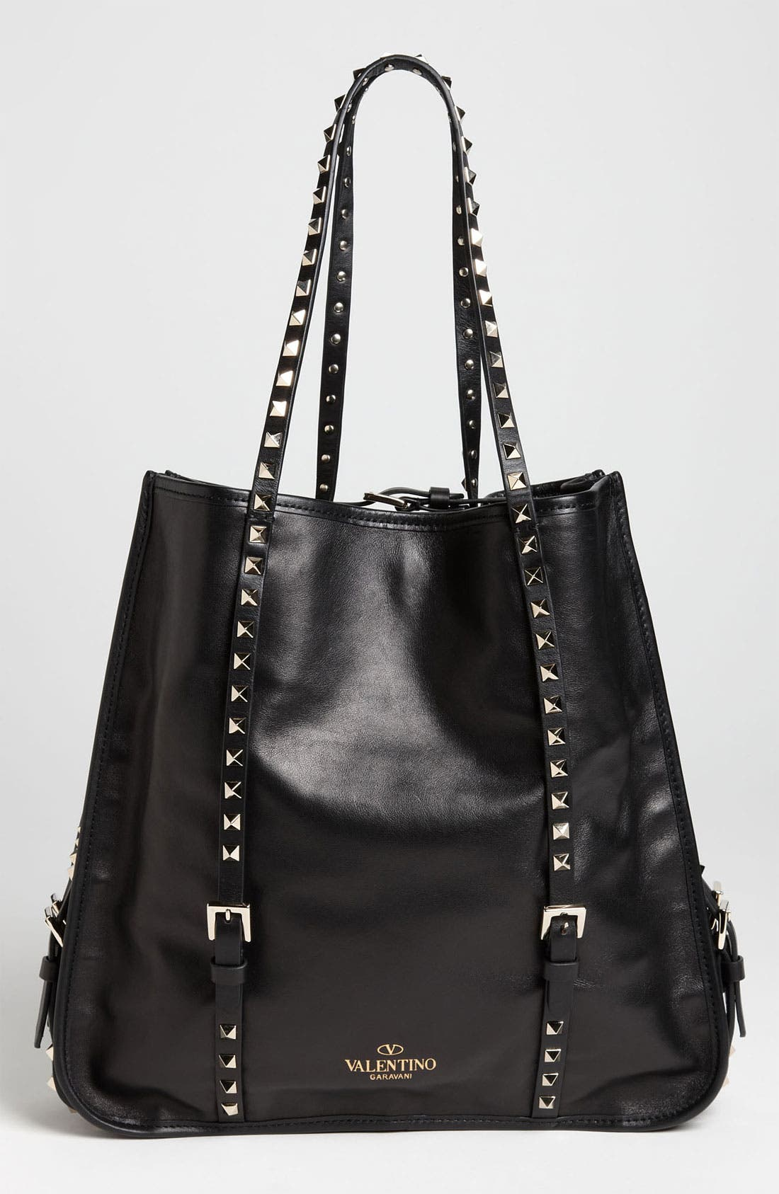 Alternate Image 4  - Valentino 'Rockstud' Leather Shopper Tote