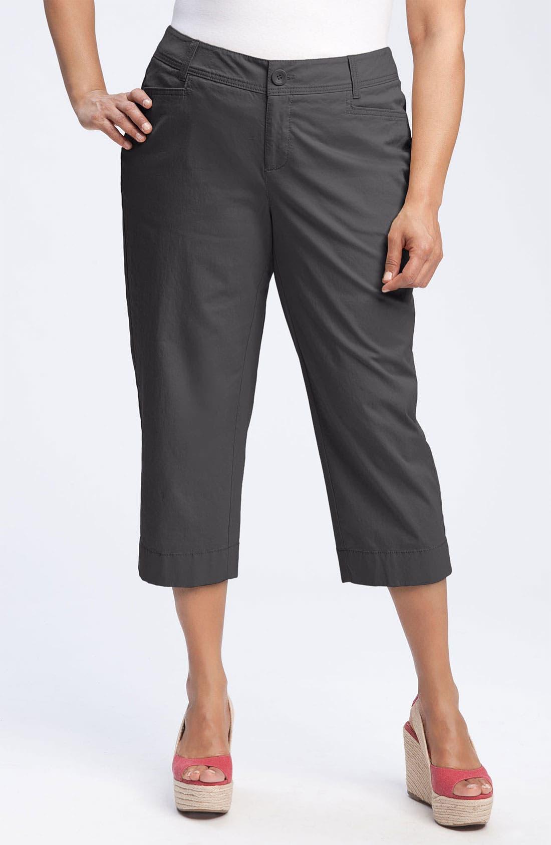 Alternate Image 1 Selected - Sejour 'Megan' Crop Pants (Plus Size)