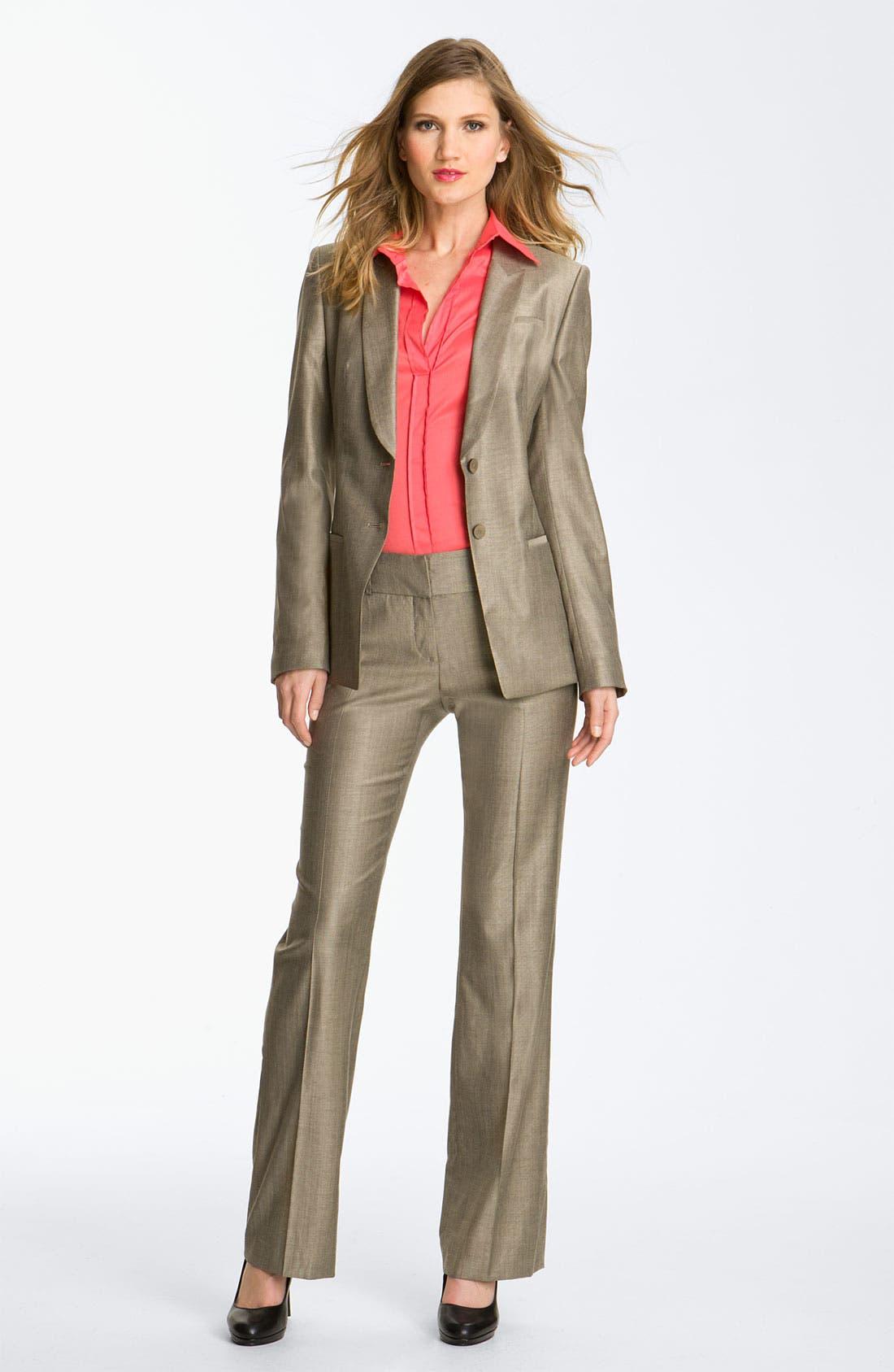 Alternate Image 3  - BOSS HUGO BOSS Flat Front Trousers