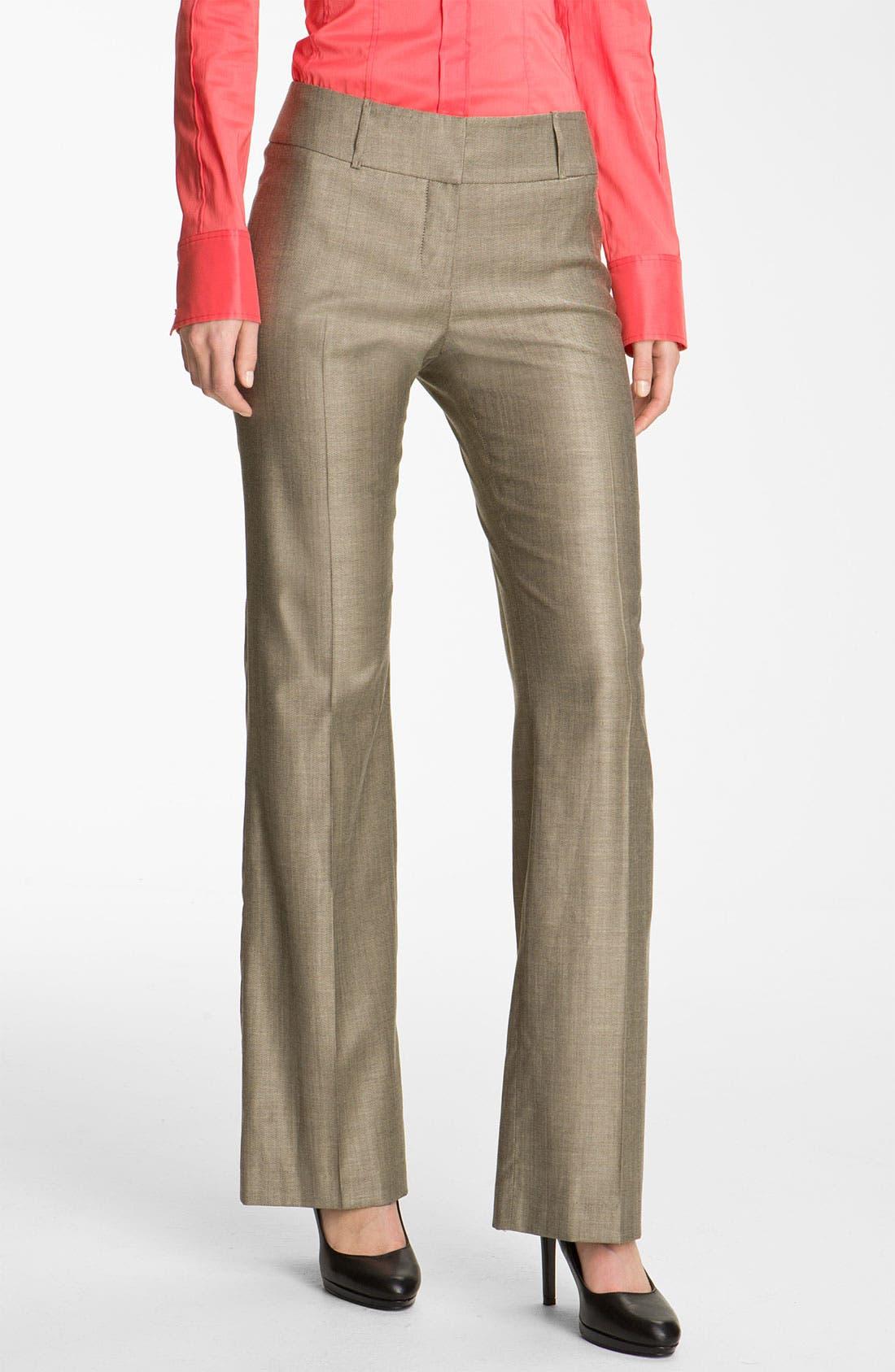 Alternate Image 1 Selected - BOSS HUGO BOSS Flat Front Trousers