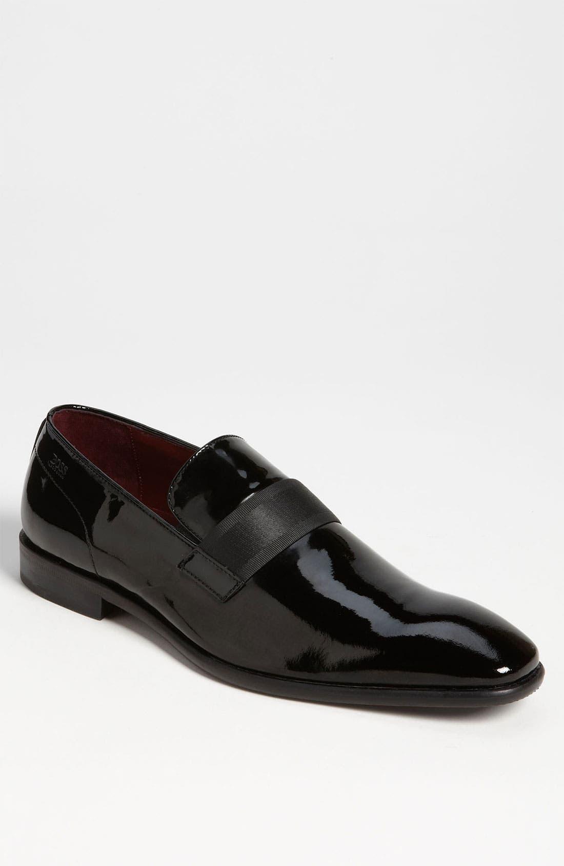 Alternate Image 1 Selected - BOSS 'Mellion' Patent Loafer (Men)