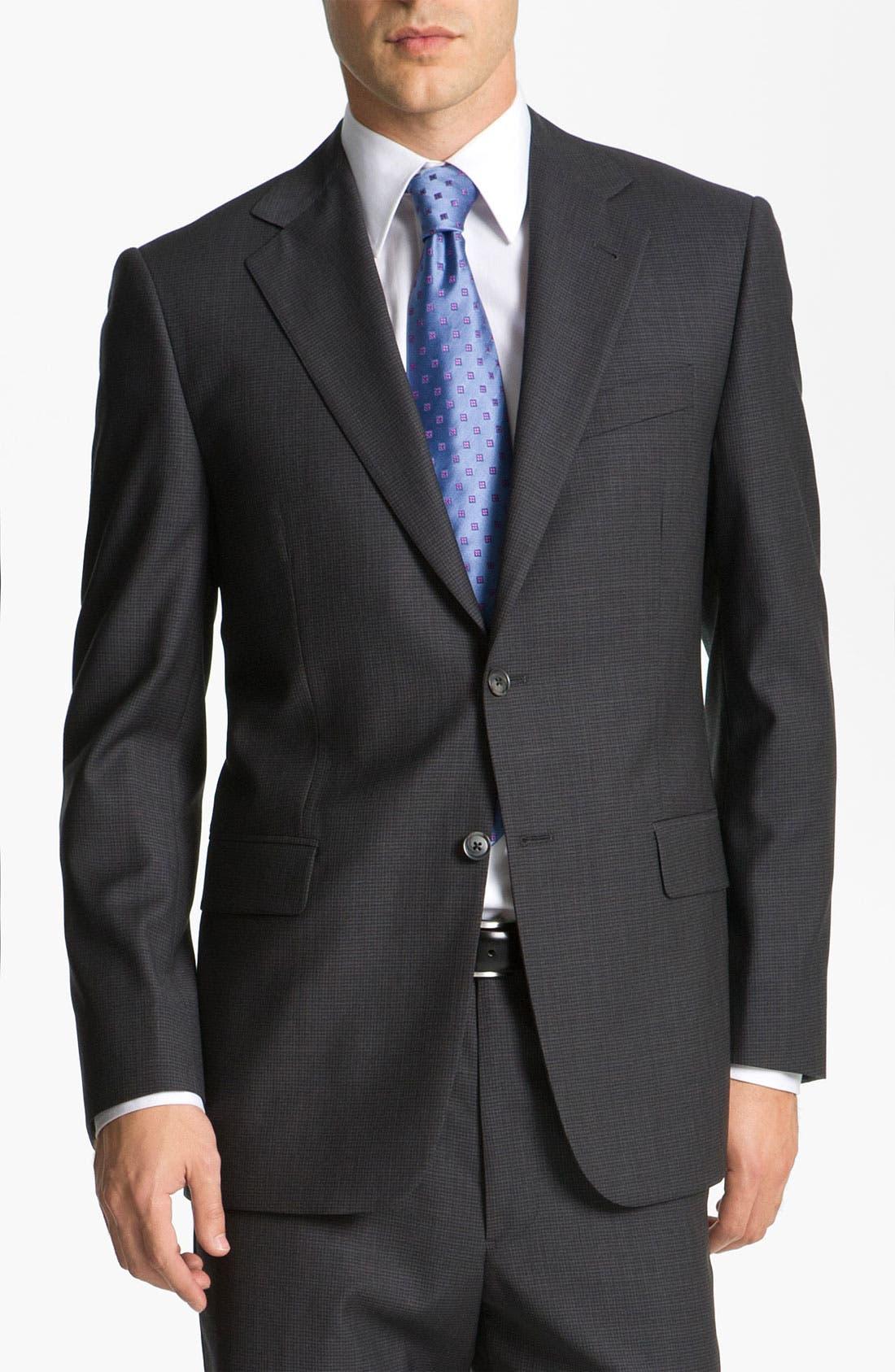 Main Image - Joseph Abboud 'Signature Silver' Check Suit