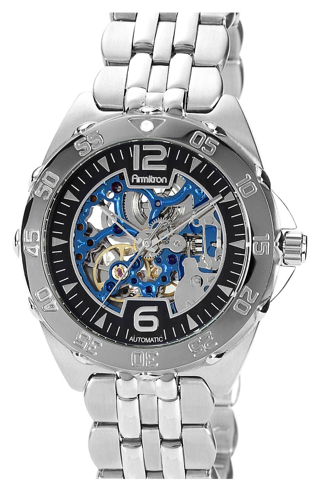 Alternate Image 1 Selected - Armitron Round Automatic Bracelet Watch, 42mm
