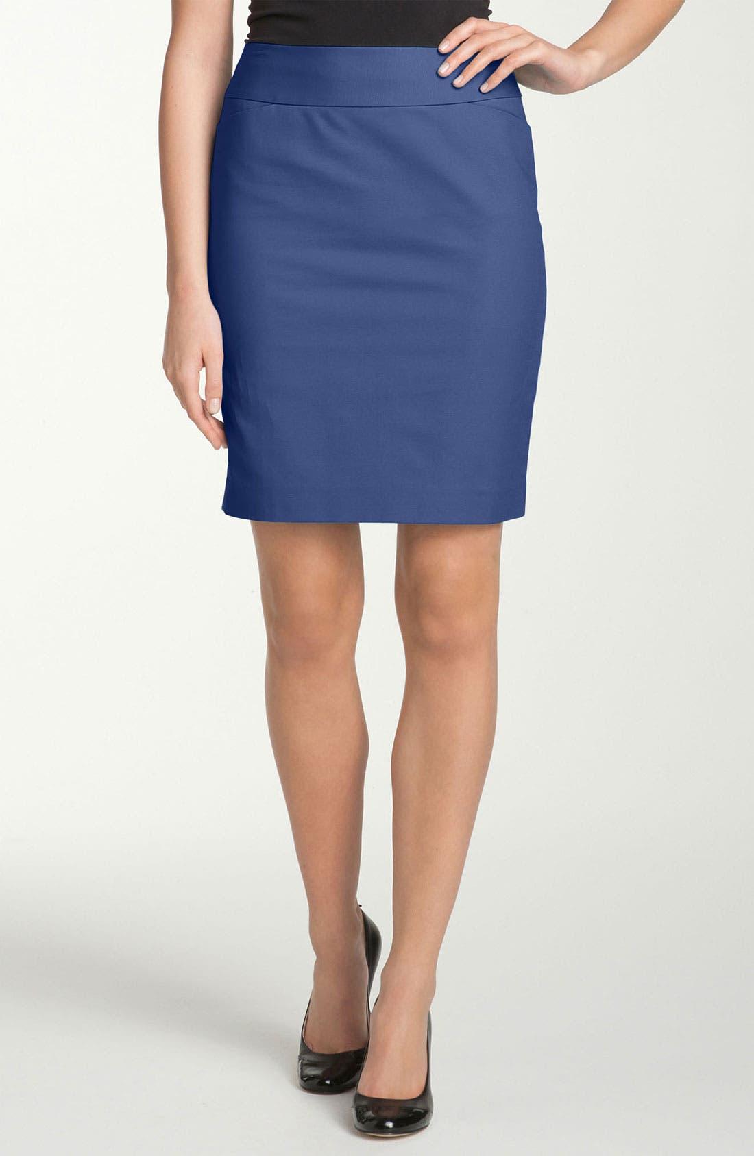 Alternate Image 1 Selected - Halogen® Stretch Denim Pencil Skirt