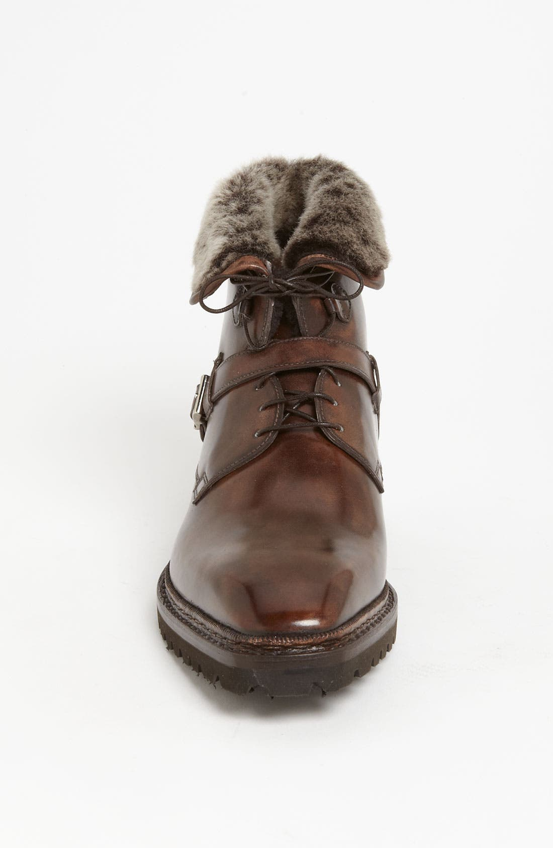 Alternate Image 3  - Santoni 'Quirion' Genuine Shearling Trimmed Boot
