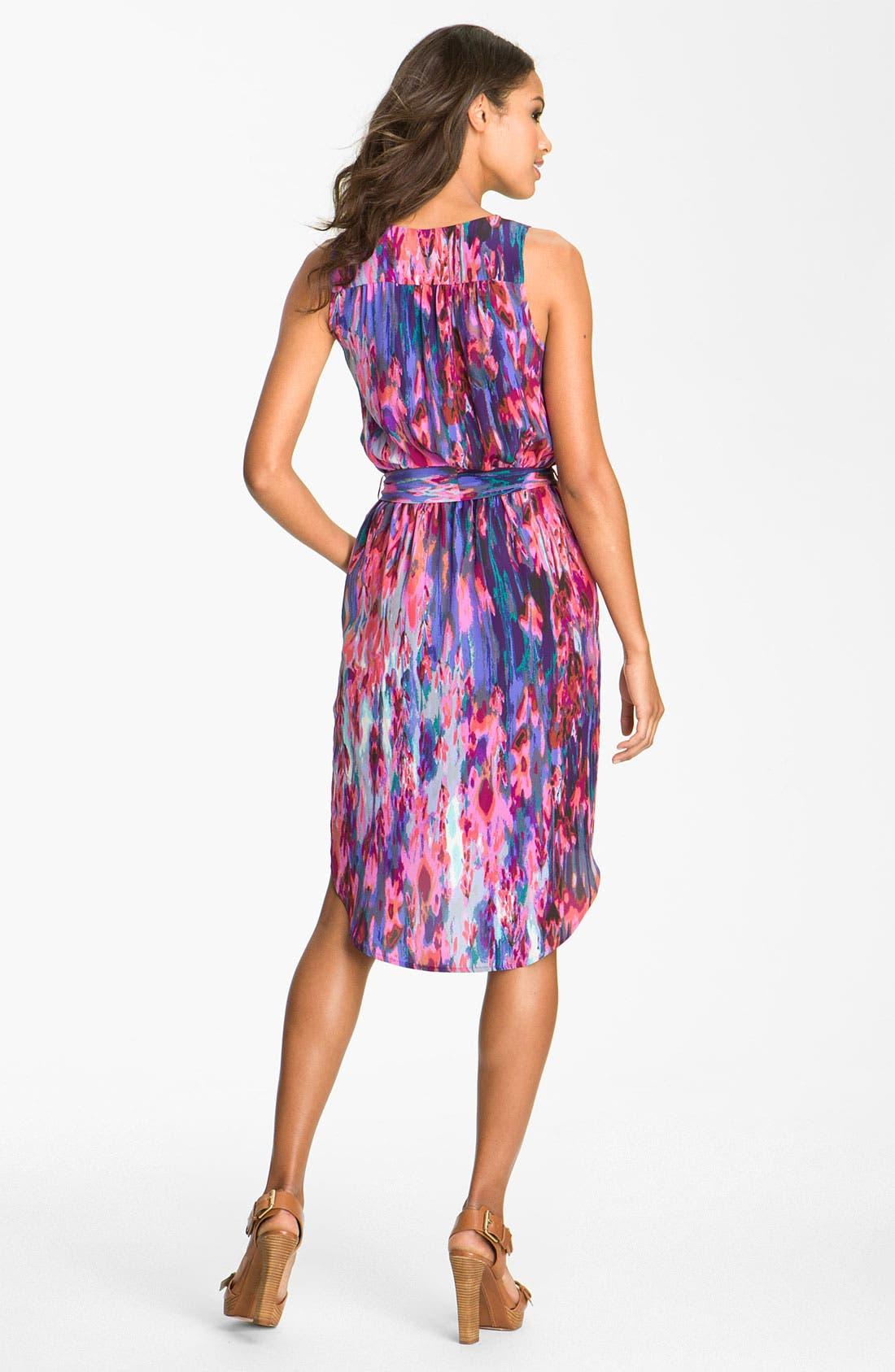 Alternate Image 2  - Presley Skye 'Parker' Print Silk Dress