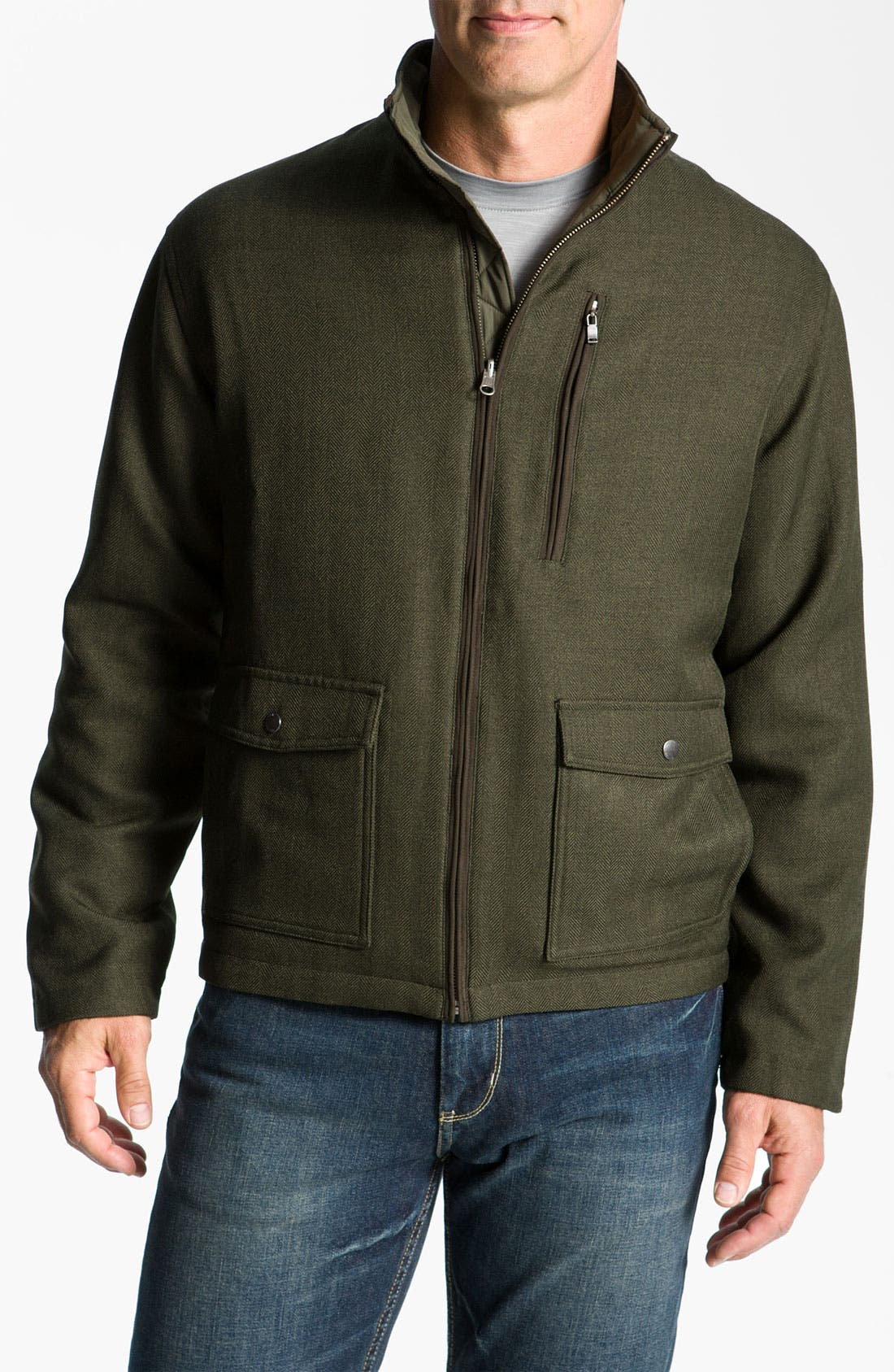 Main Image - Cutter & Buck 'Weathertec Bearsden' Reversible Jacket (Big & Tall)