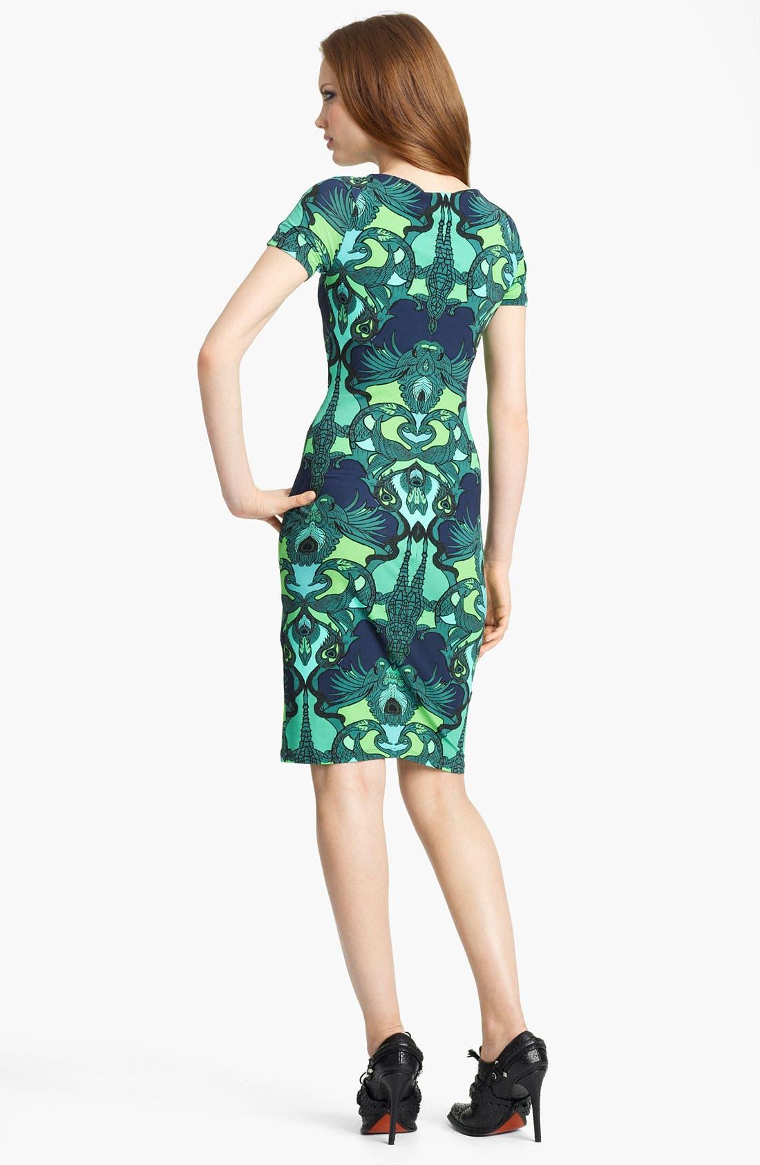Alternate Image 2  - Roberto Cavalli Alligator Print Jersey Dress