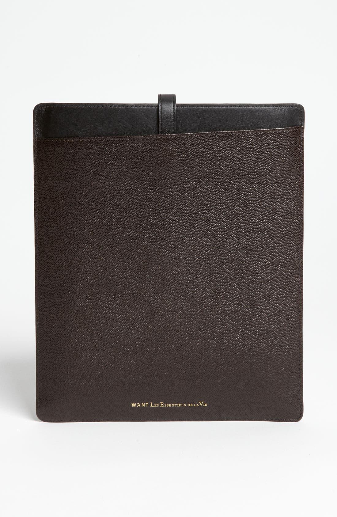Alternate Image 3  - WANT Les Essentiels de la Vie 'Capital' iPad 2 Leather Sleeve