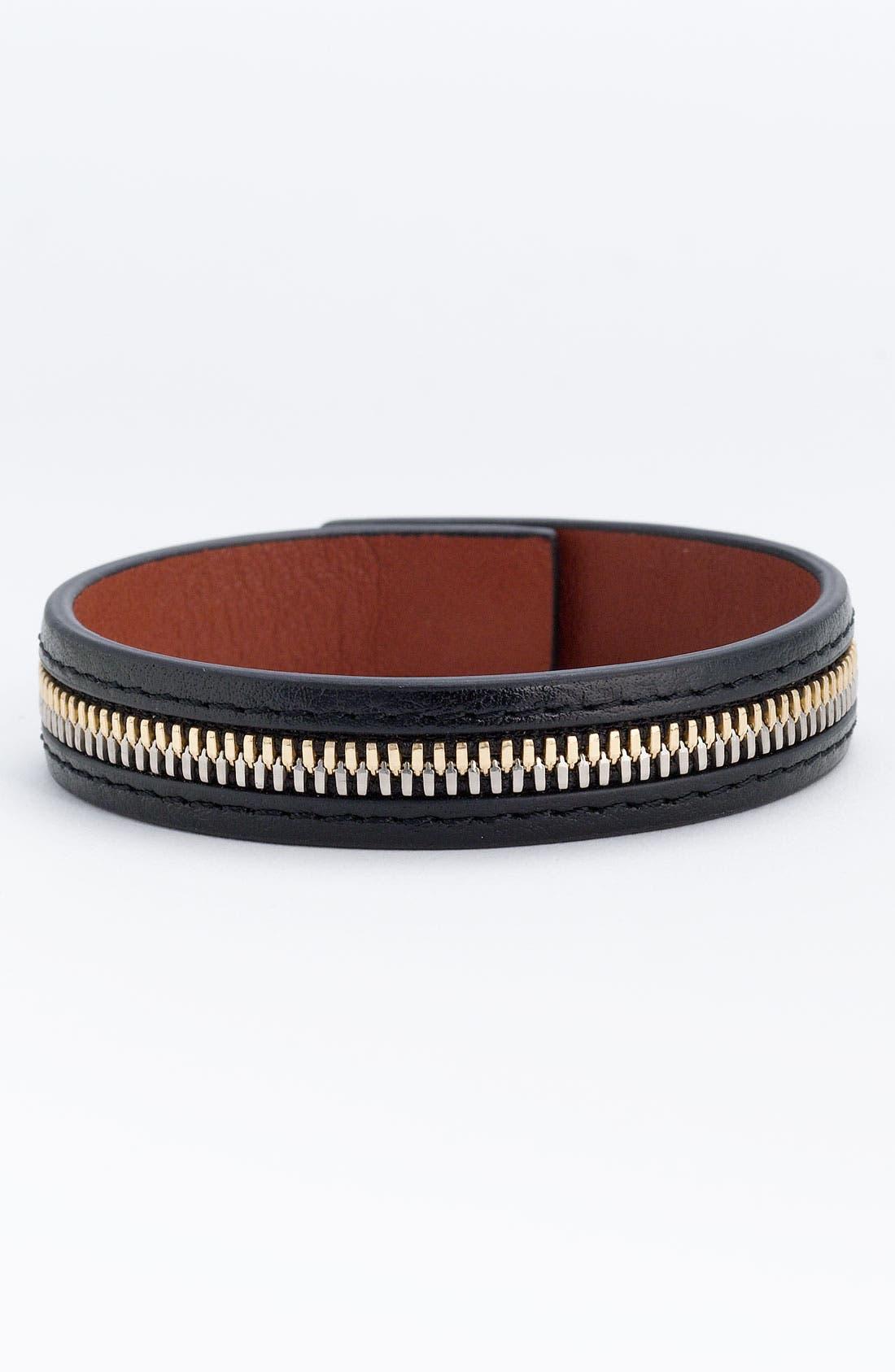 Alternate Image 1 Selected - WANT Les Essentiels de la Vie 'Tambo' Zip Leather Bracelet