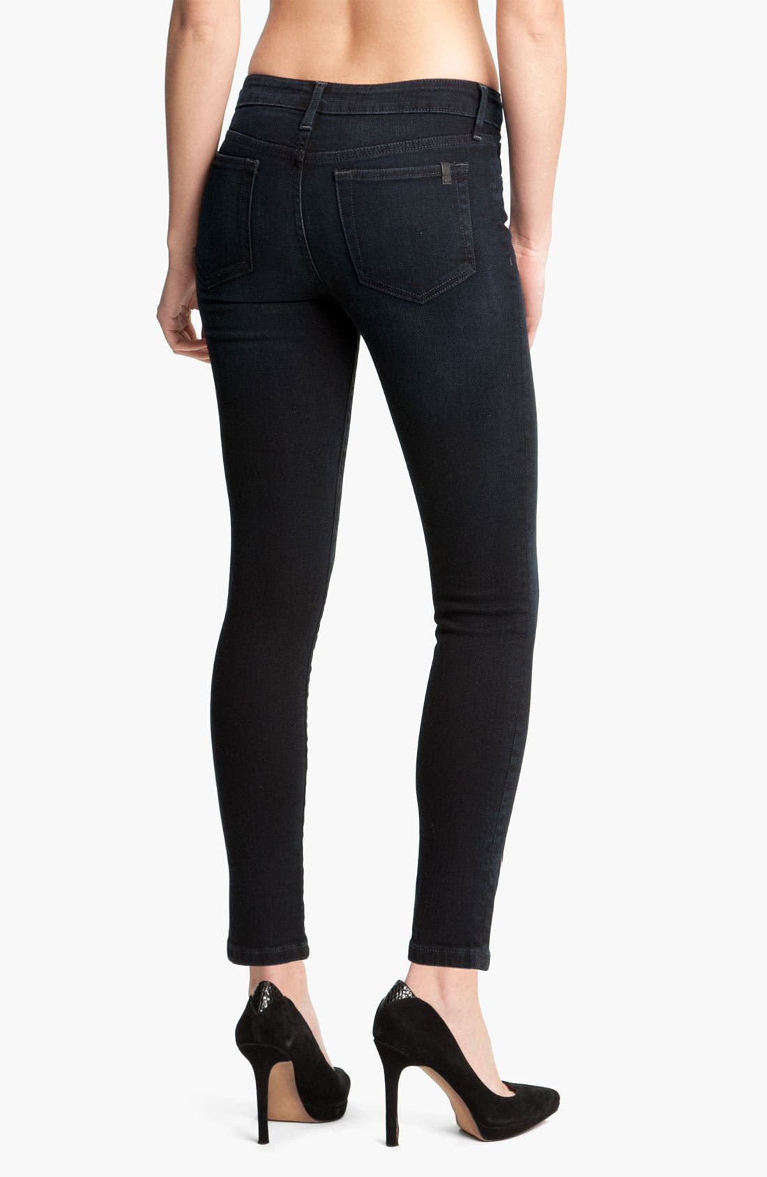 Alternate Image 2  - Joe's Skinny Stretch Ankle Jeans (Tabitha Blue/Black)