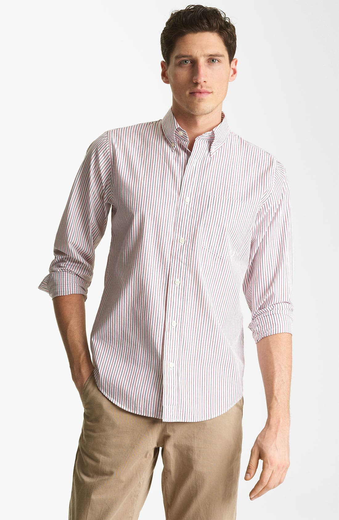 Alternate Image 1 Selected - Jack Spade 'Cale' Stripe Sport Shirt
