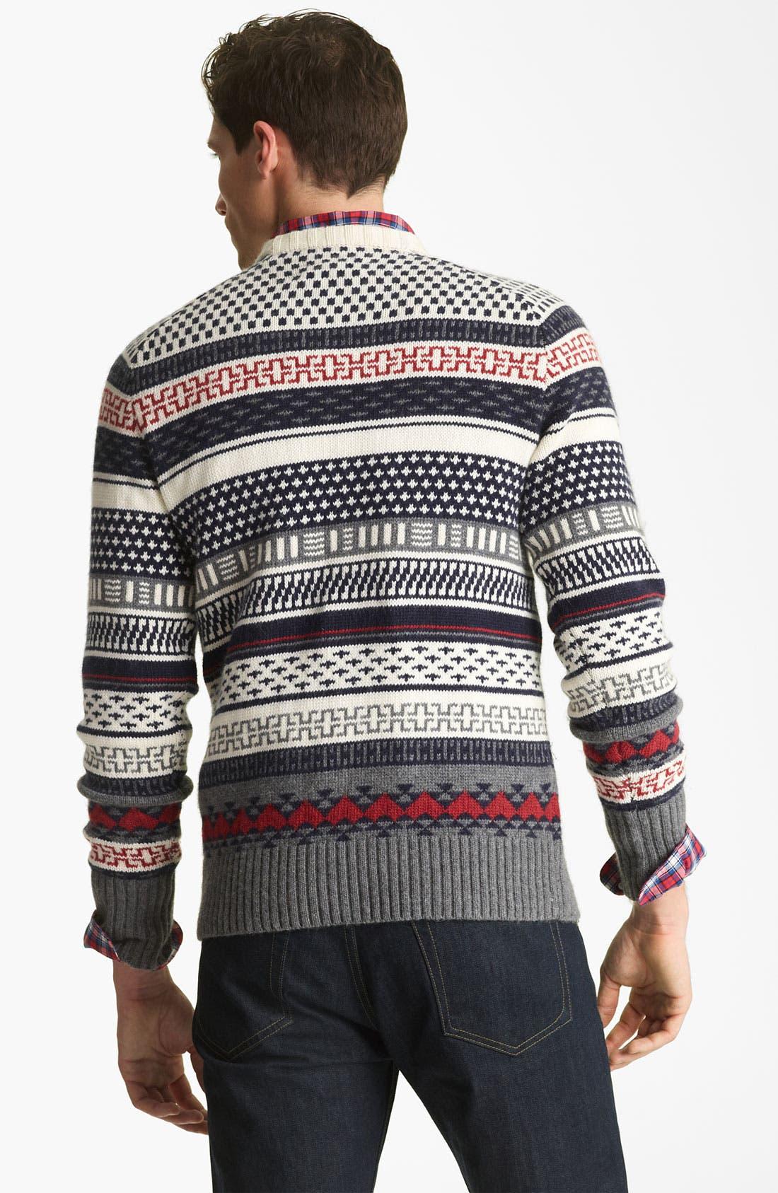 Alternate Image 2  - Jack Spade 'Stone' Fair Isle Crewneck Sweater