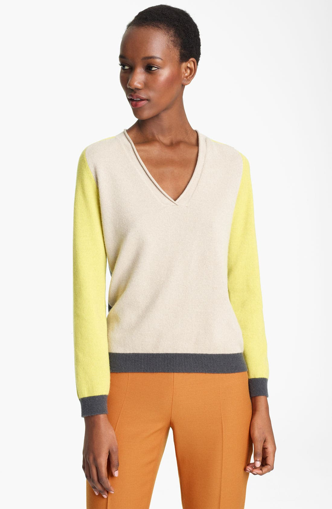 Alternate Image 1 Selected - Moschino Cheap & Chic Colorblock Cashmere Sweater