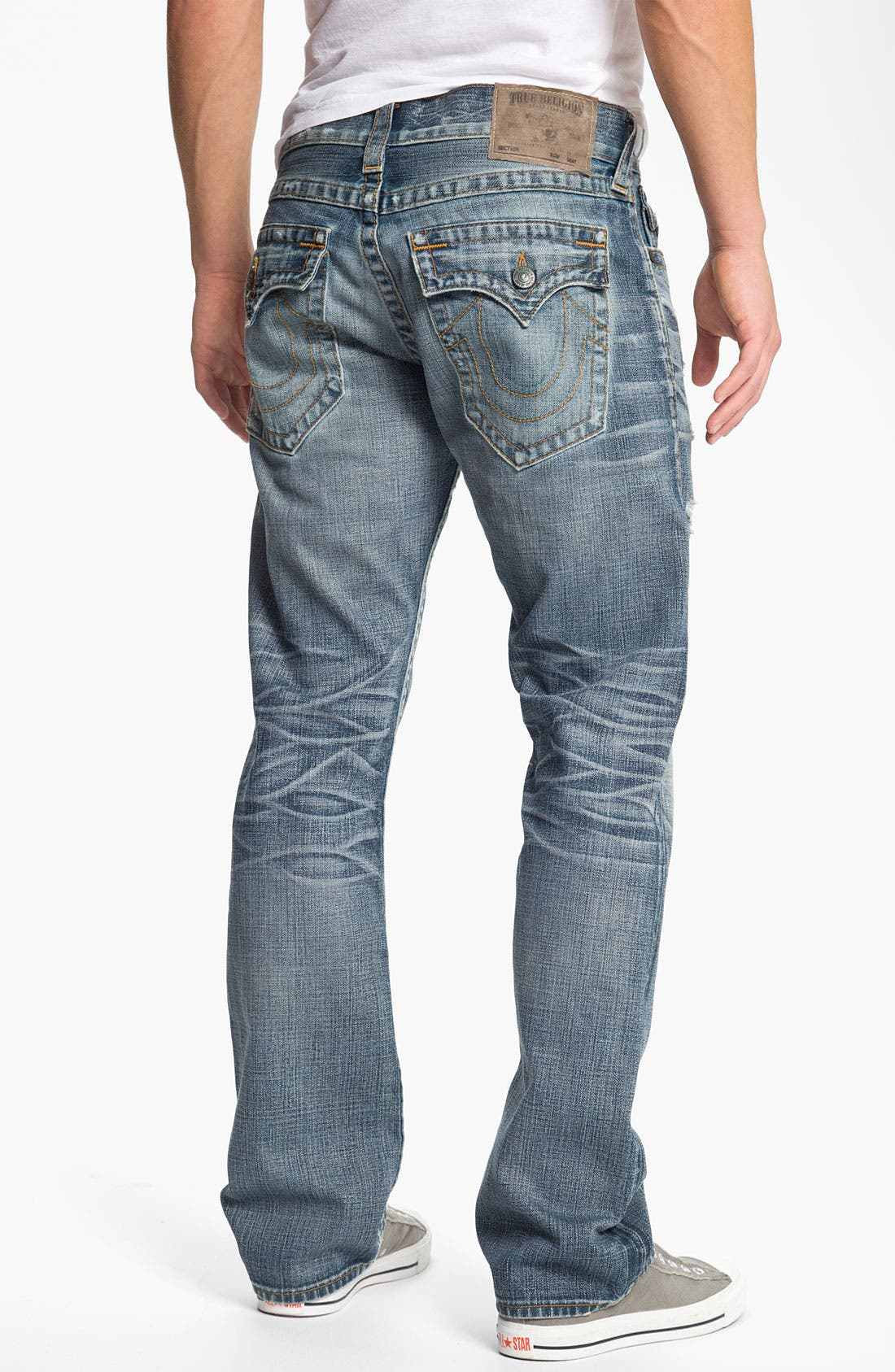 Alternate Image 1 Selected - True Religion Brand Jeans 'Ricky Vintage' Straight Leg Jeans (Tyrant)