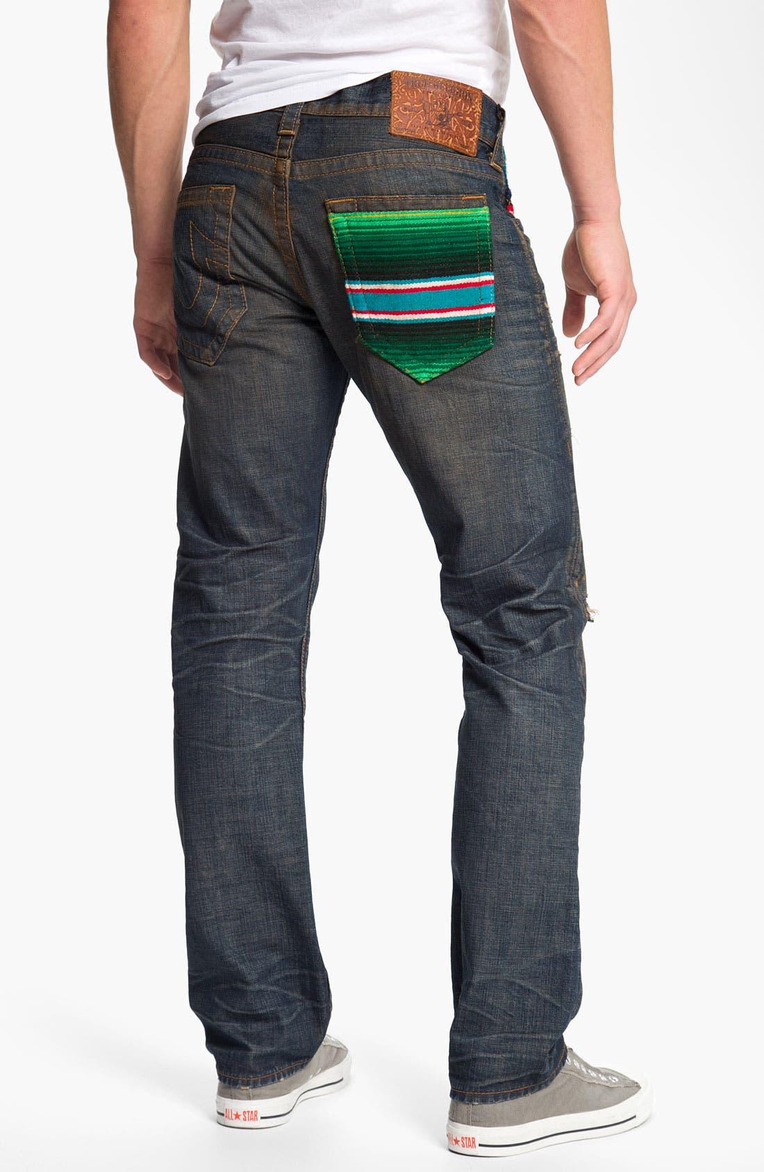 Alternate Image 1 Selected - True Religion Brand Jeans 'Geno Baja' Slim Straight Leg Jeans (Proclamation)