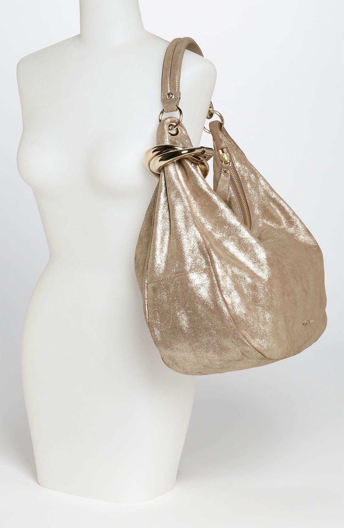 Alternate Image 2  - Jimmy Choo 'Solar - Large' Metallic Leather Hobo
