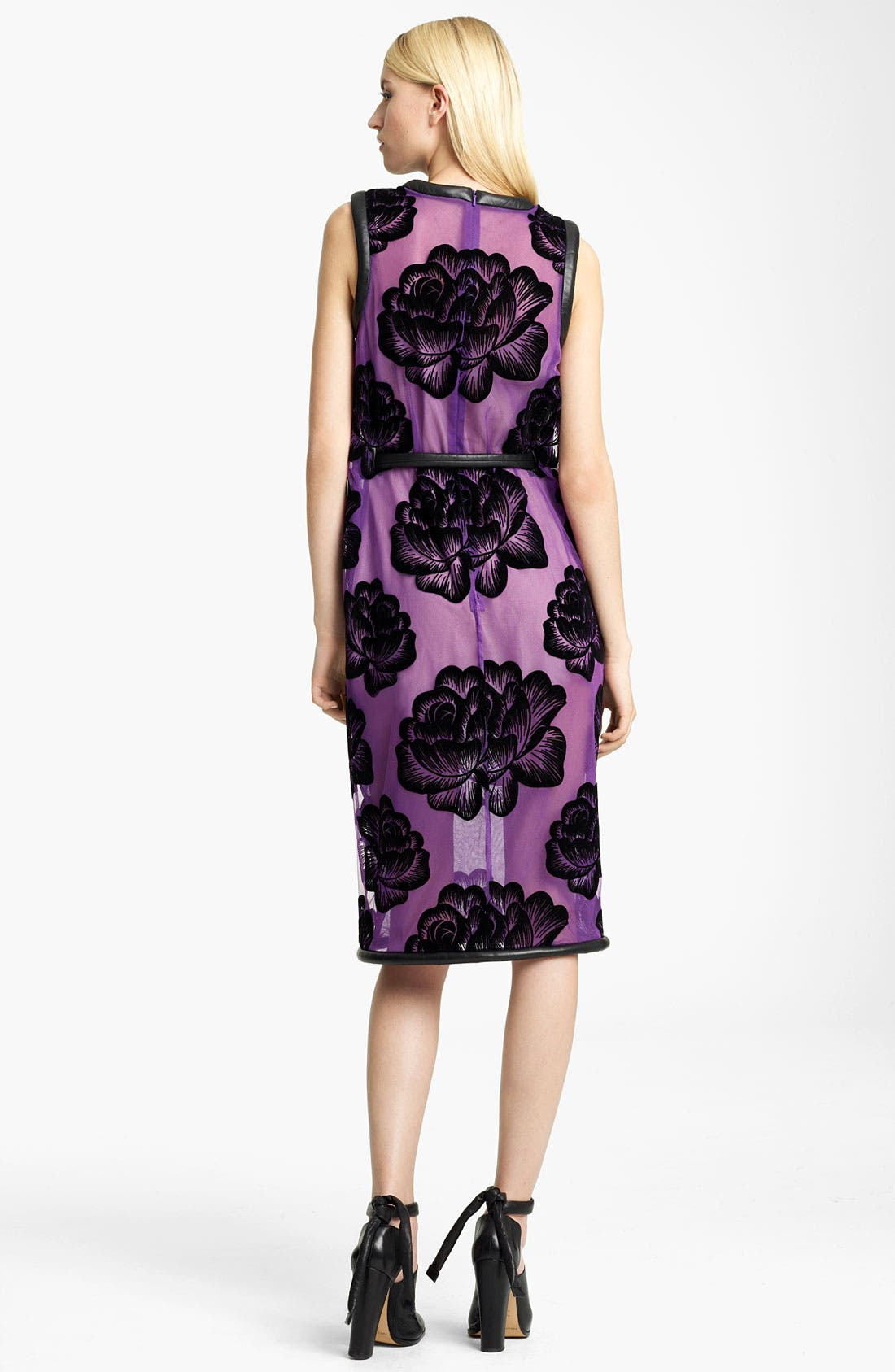Alternate Image 2  - Christopher Kane Tie Belt Rose Tulle Dress