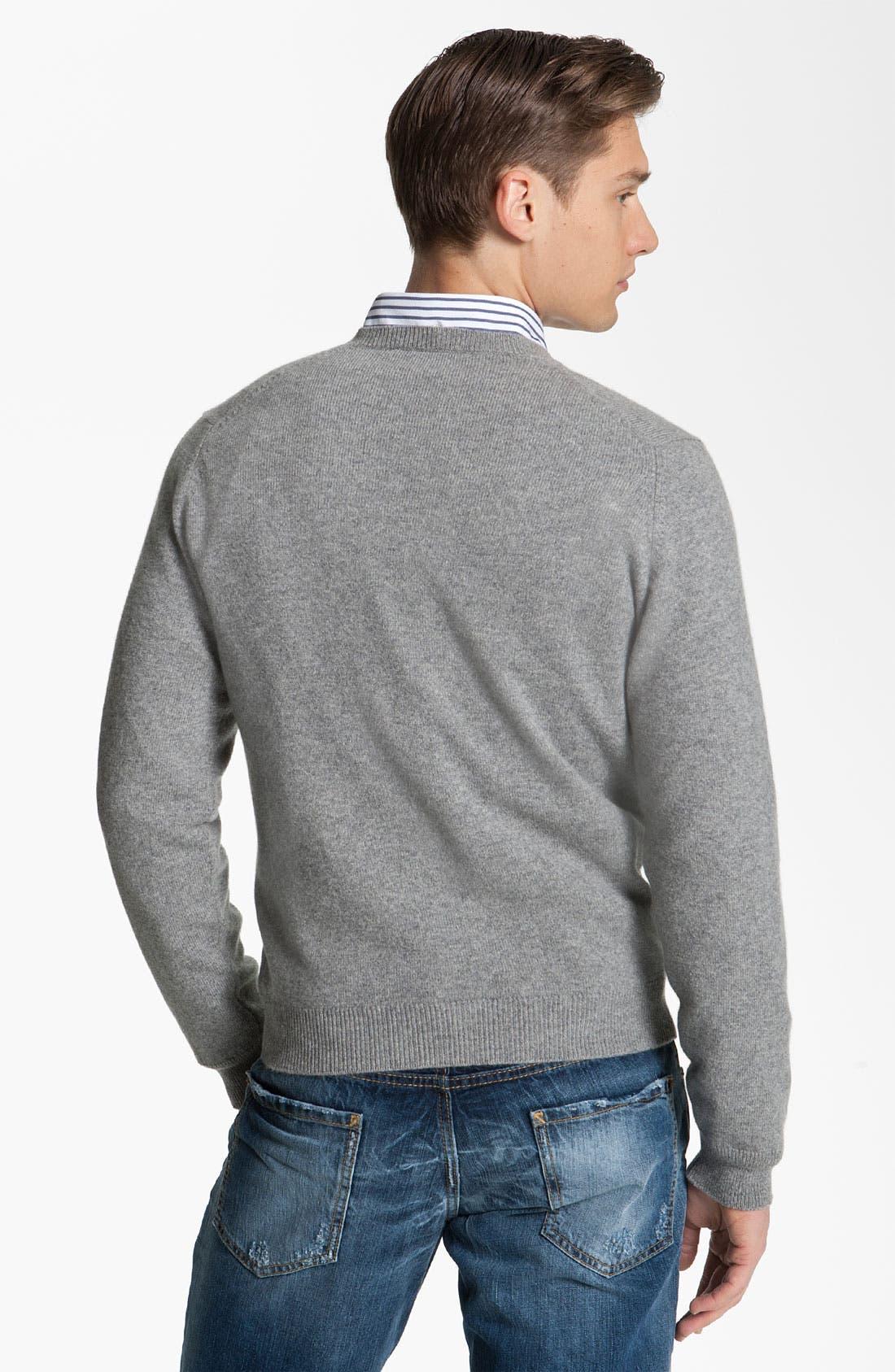 Alternate Image 2  - Brooks Brothers by Jeffrey V-Neck Cashmere Sweater