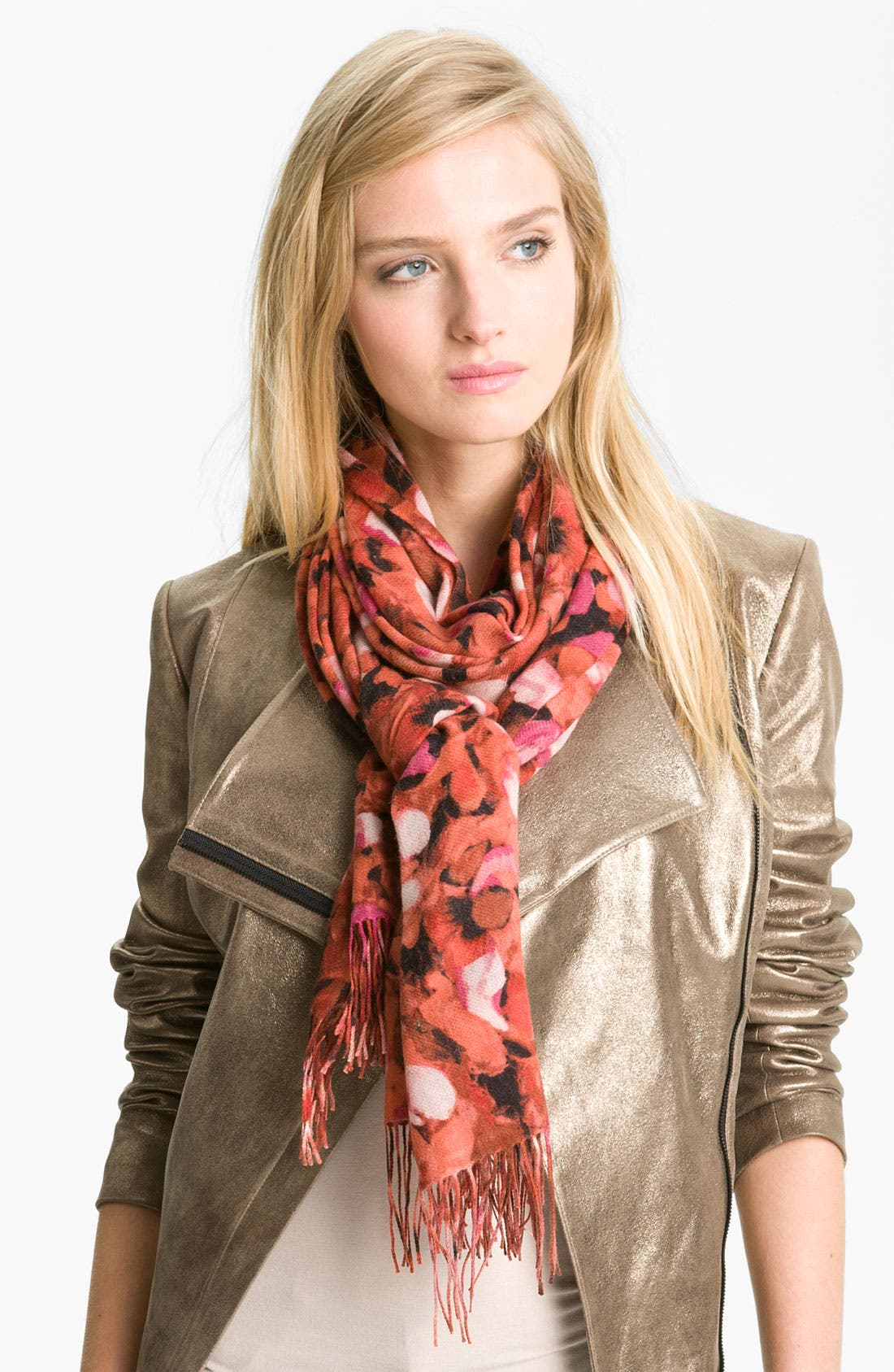 Alternate Image 1 Selected - Nordstrom 'Petals' Wool & Cashmere Wrap