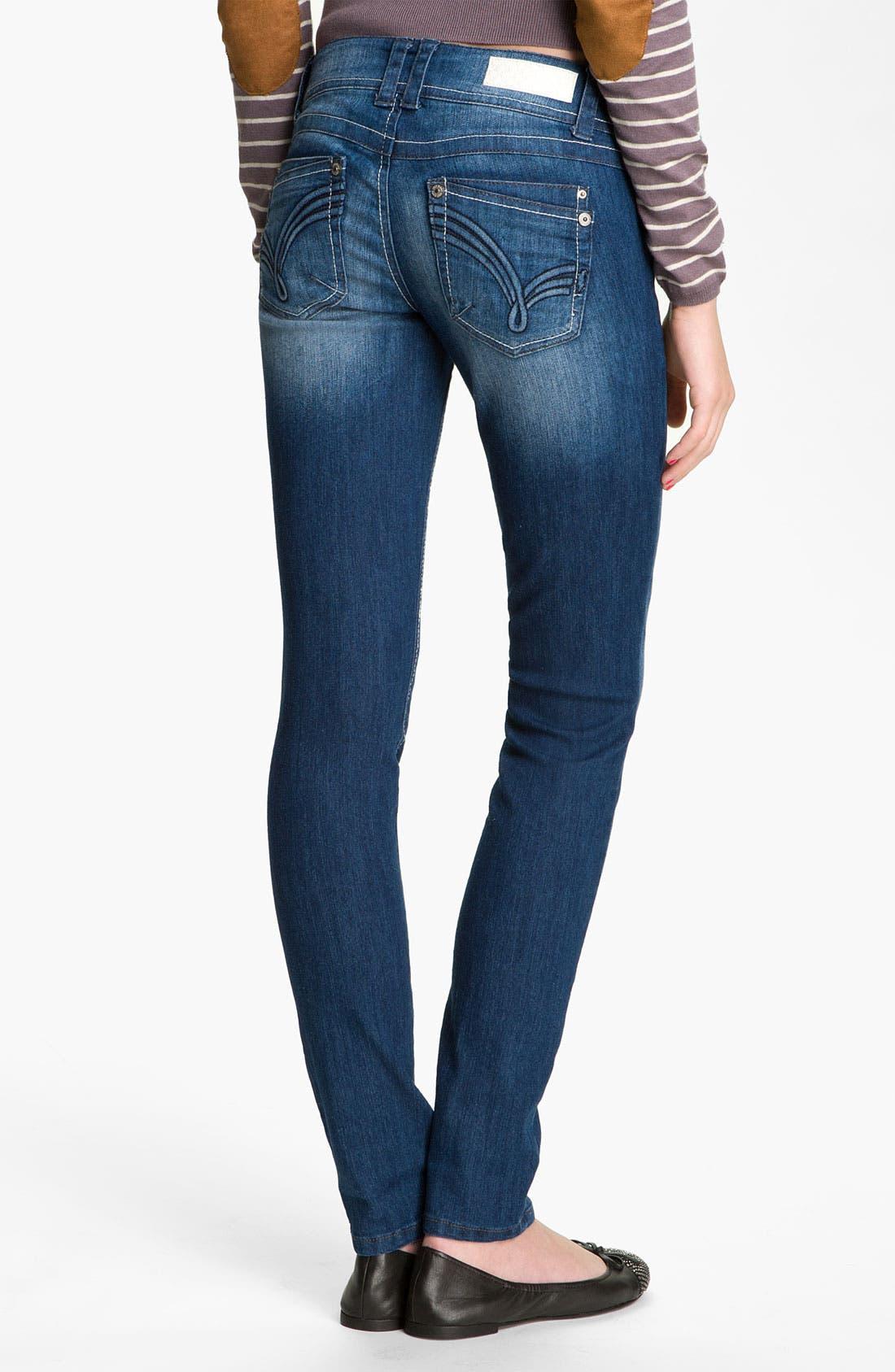 Alternate Image 2  - Jolt 'J' Pocket Skinny Jeans (Juniors)