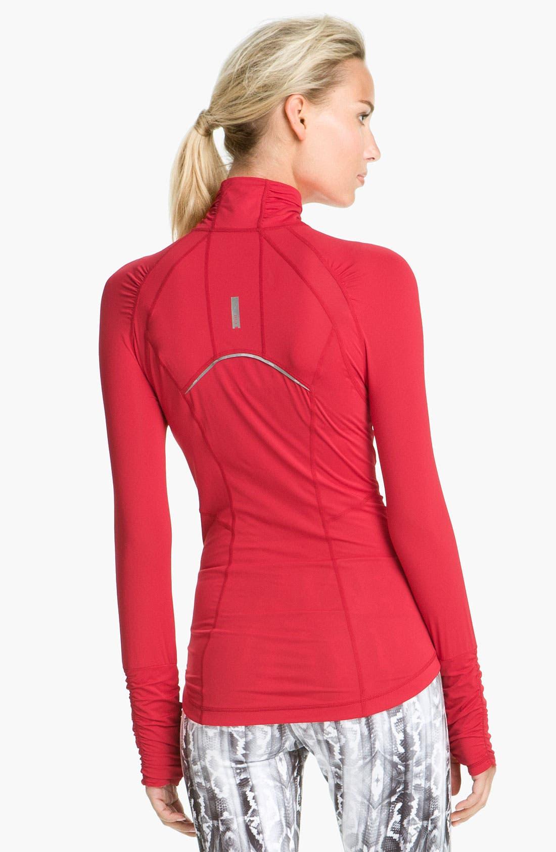 Alternate Image 2  - Zella 'Micro Jersey' Half Zip Pullover
