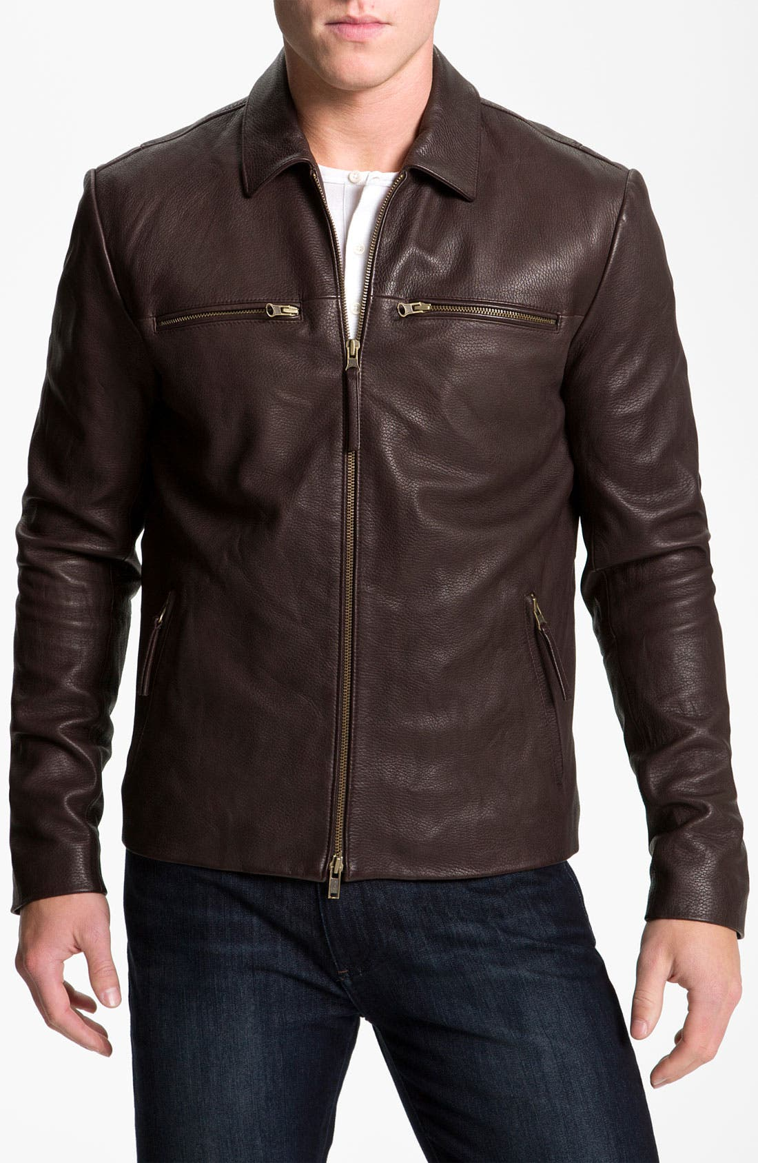 Alternate Image 1 Selected - Vince Leather Moto Jacket