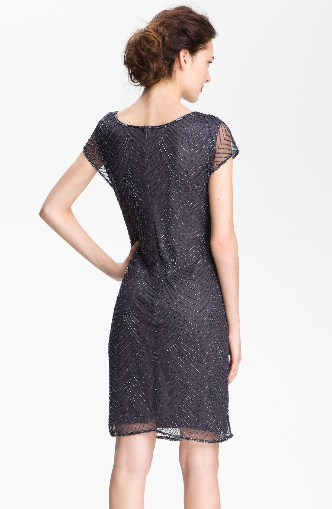 Alternate Image 2  - Pisarro Nights Beaded Overlay Silk Chiffon Dress