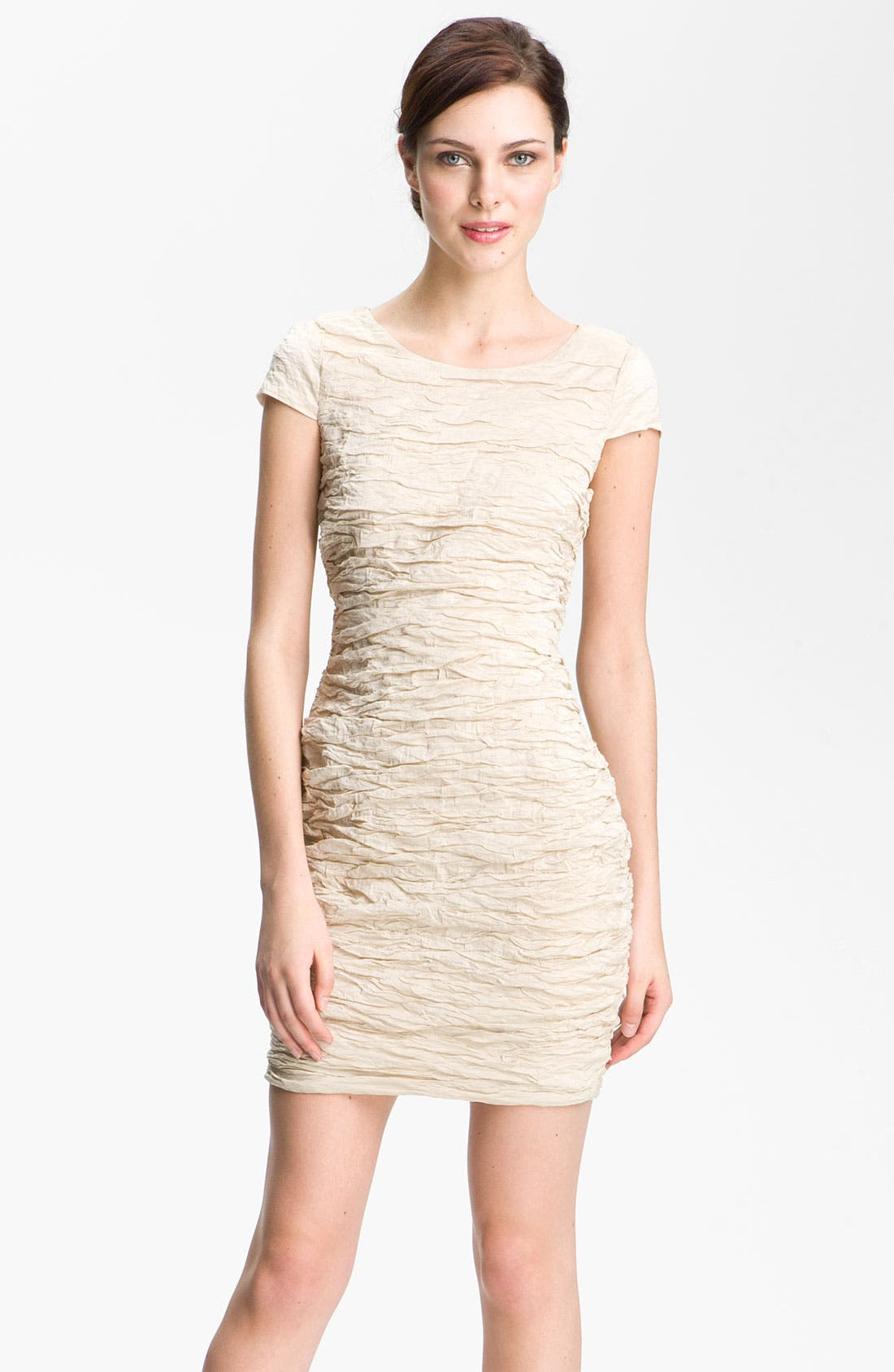 Alternate Image 1 Selected - Alexia Admor Ruched Metallic Woven Dress