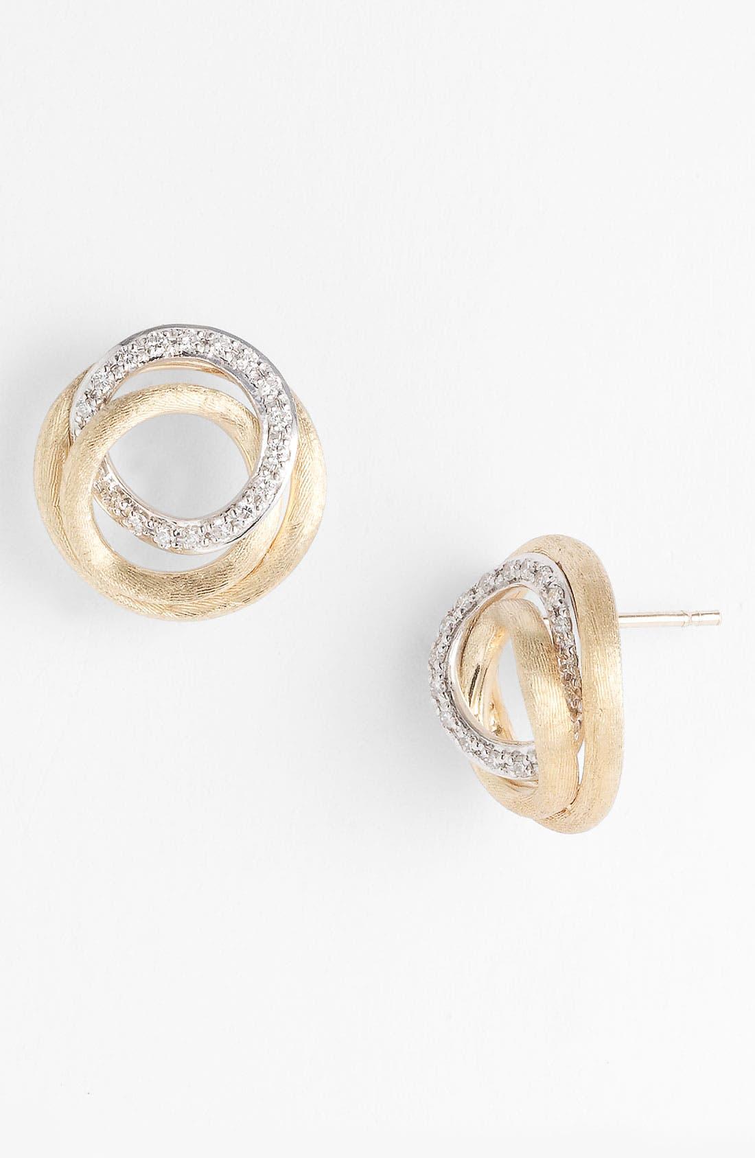 Alternate Image 1 Selected - Marco Bicego 'Jaipur' Diamond Link Stud Earrings