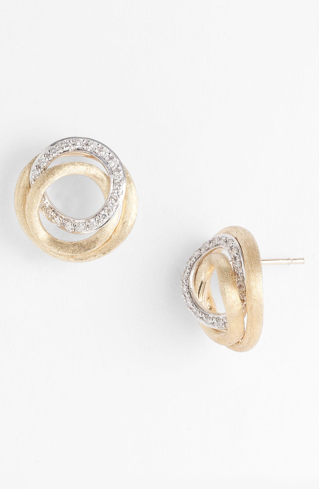 Main Image - Marco Bicego 'Jaipur' Diamond Link Stud Earrings