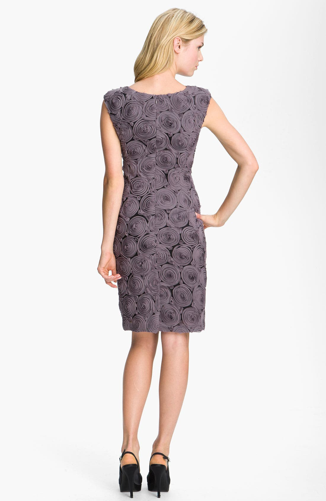 Alternate Image 2  - Adrianna Papell Rosette Detail Chiffon Sheath Dress