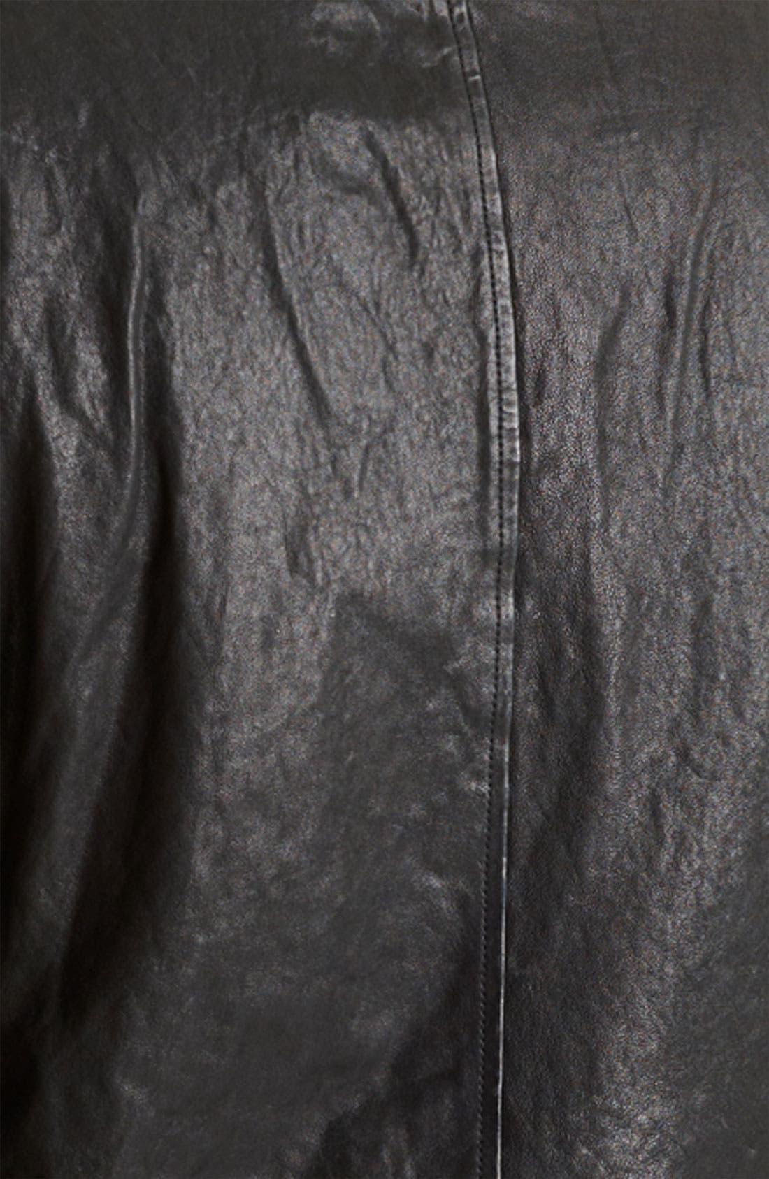 Alternate Image 3  - Todd Snyder Leather Moto Jacket