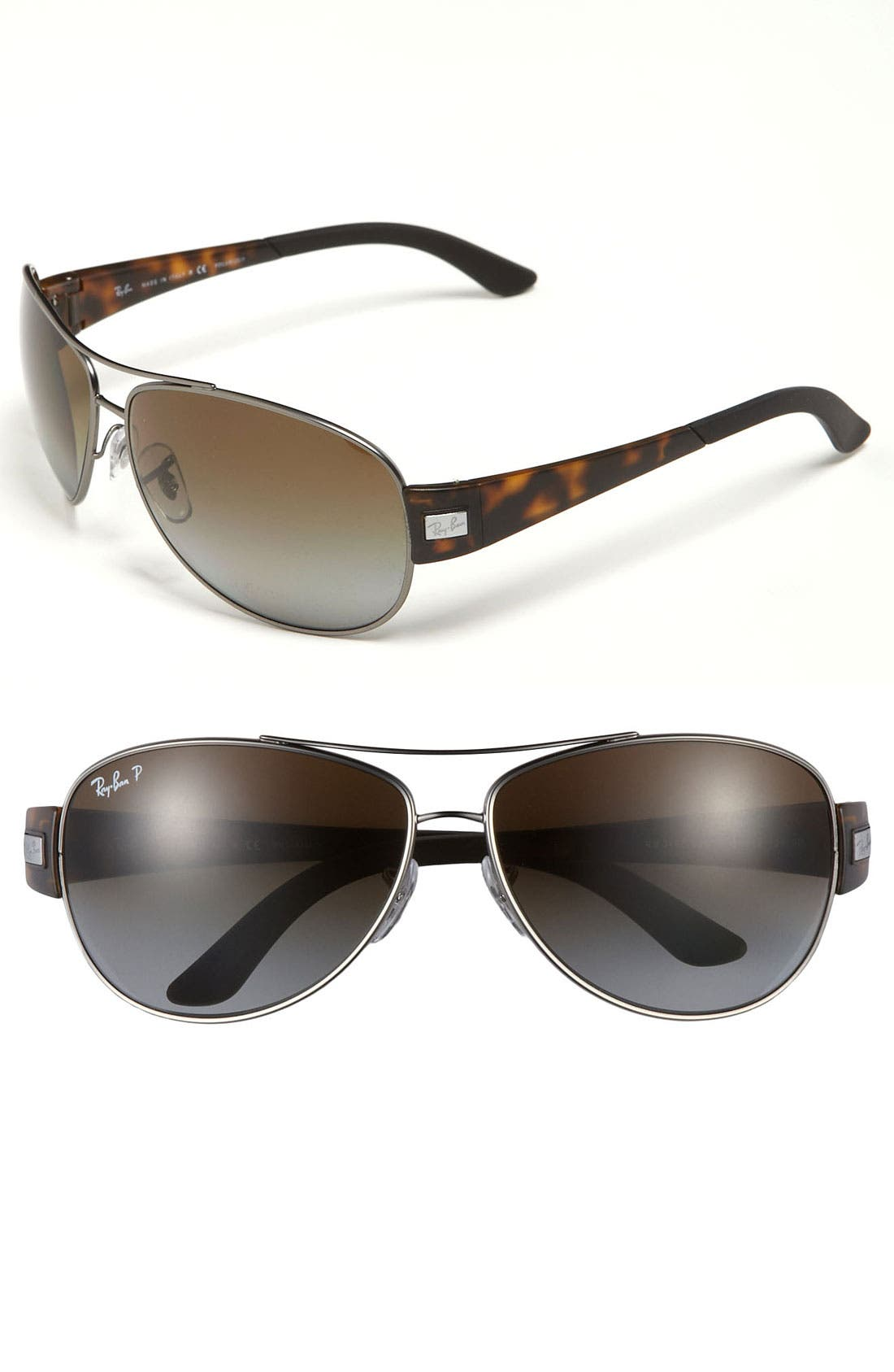 Alternate Image 1 Selected - Ray-Ban Aviator 63mm Polarized Sunglasses