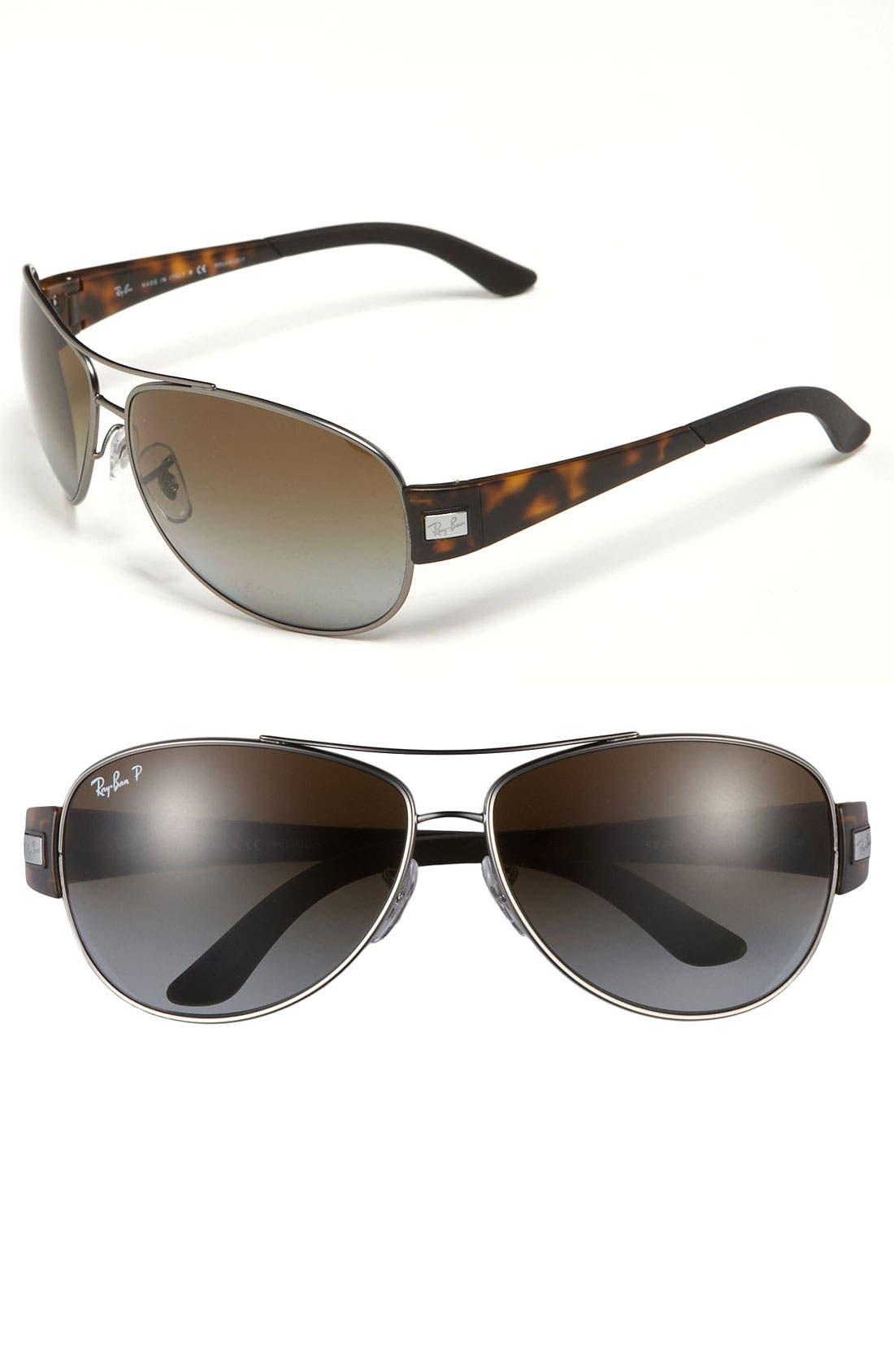 Main Image - Ray-Ban Aviator 63mm Polarized Sunglasses