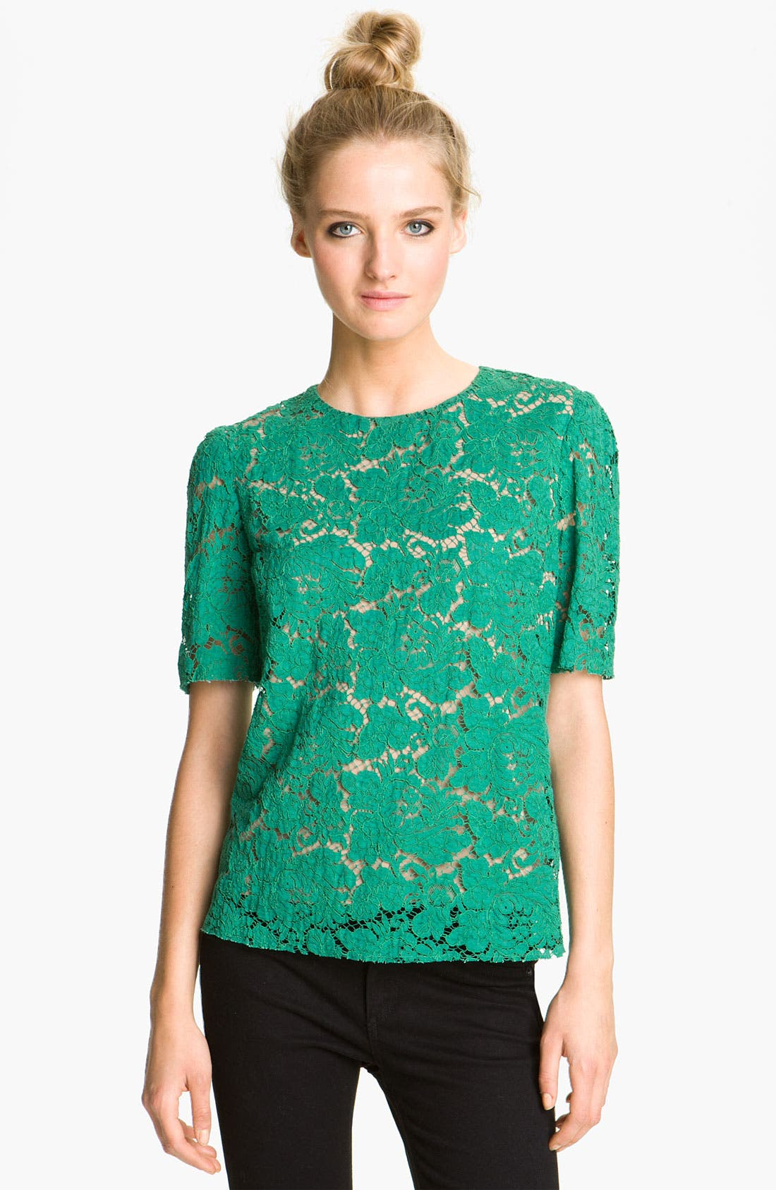 Alternate Image 1 Selected - MSGM Lace Top