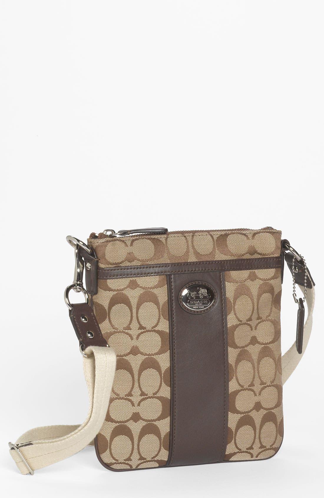 Alternate Image 1 Selected - COACH 'Sutton Signature - Swingpack' Crossbody Bag