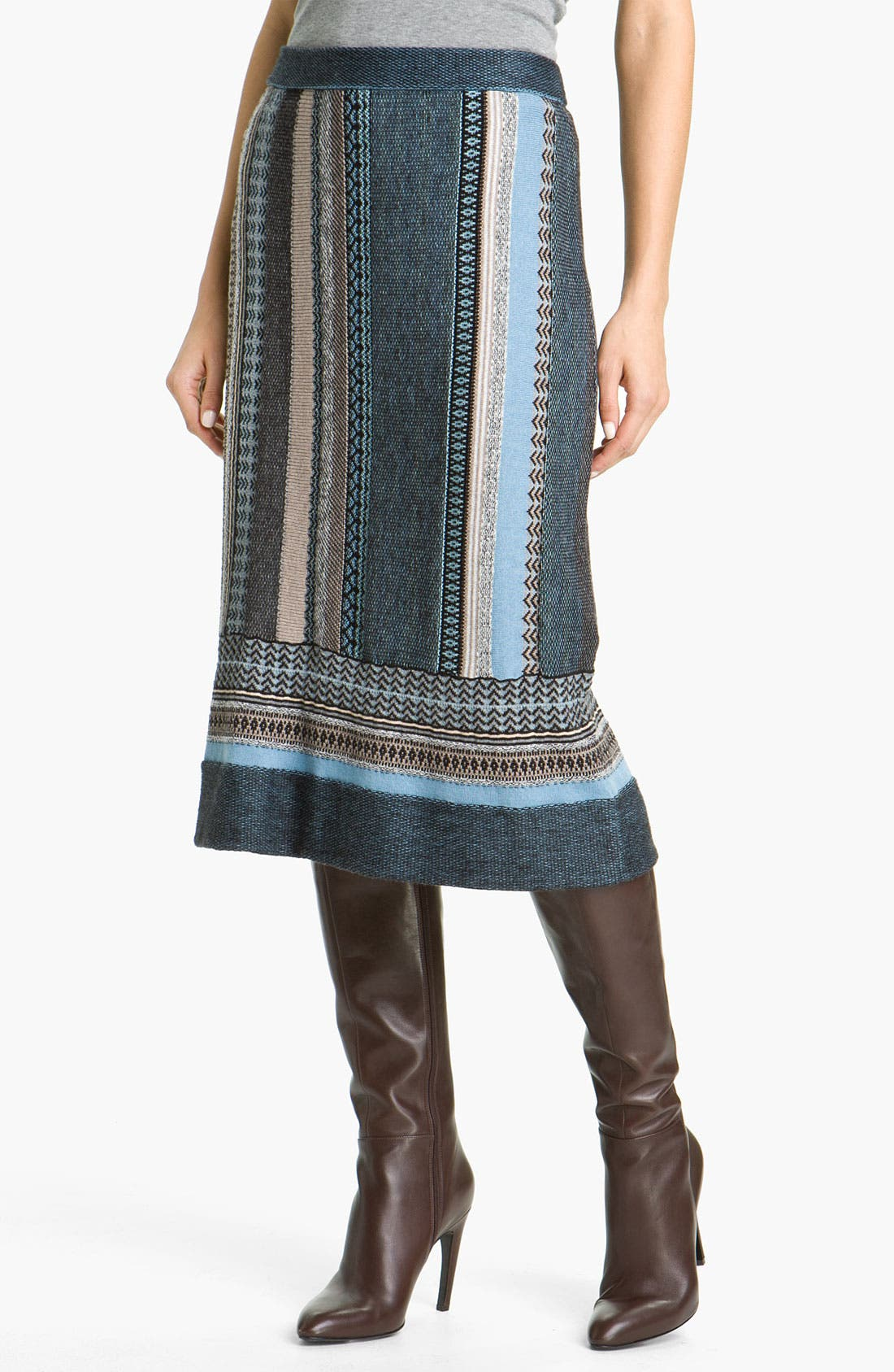 Alternate Image 1 Selected - Nic + Zoe Stripe Knit Skirt