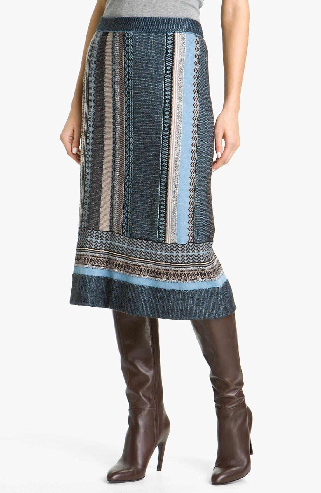 Main Image - Nic + Zoe Stripe Knit Skirt