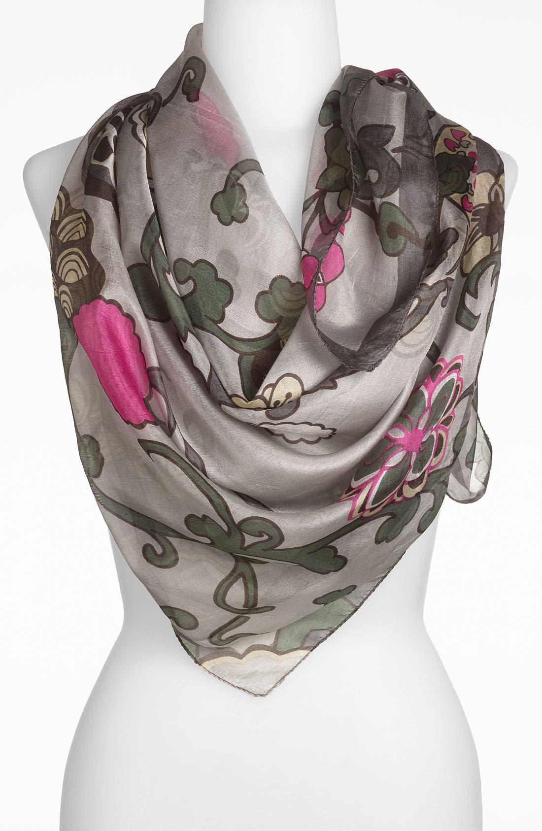 Main Image - Janie Besner 'Floral Vine' Silk Scarf