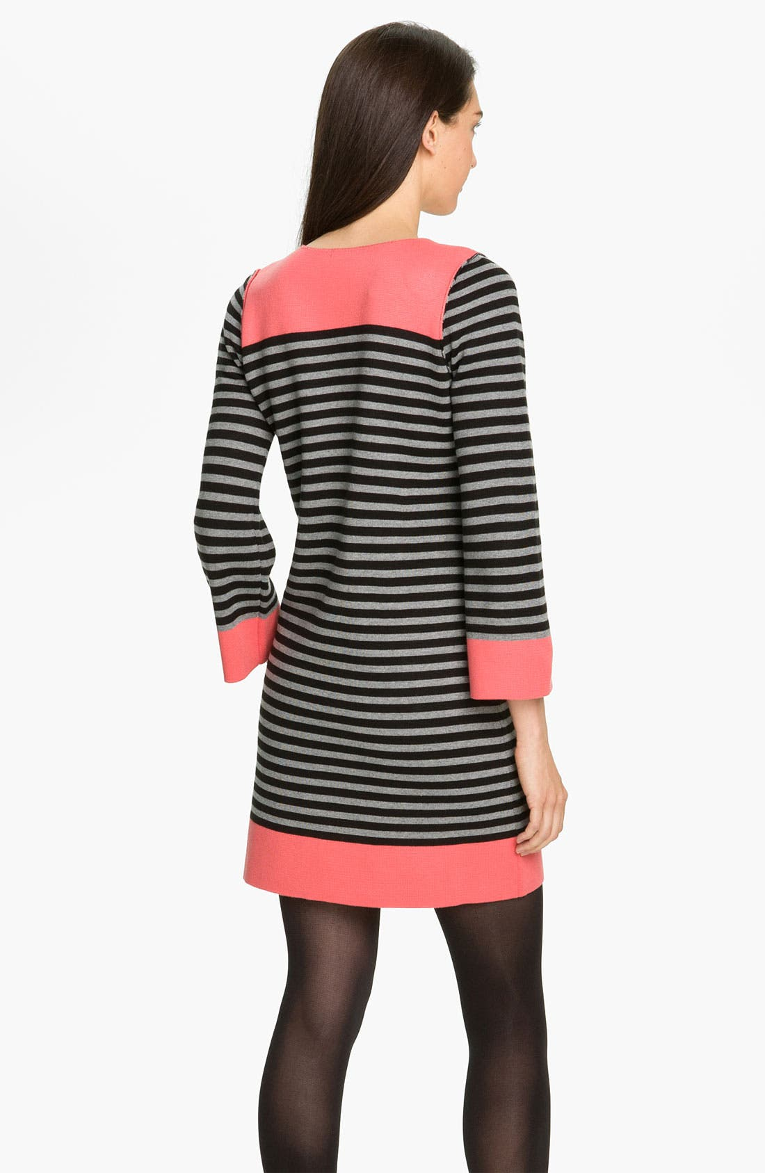 Alternate Image 2  - Eliza J Stripe Contrast Trim Shift Dress