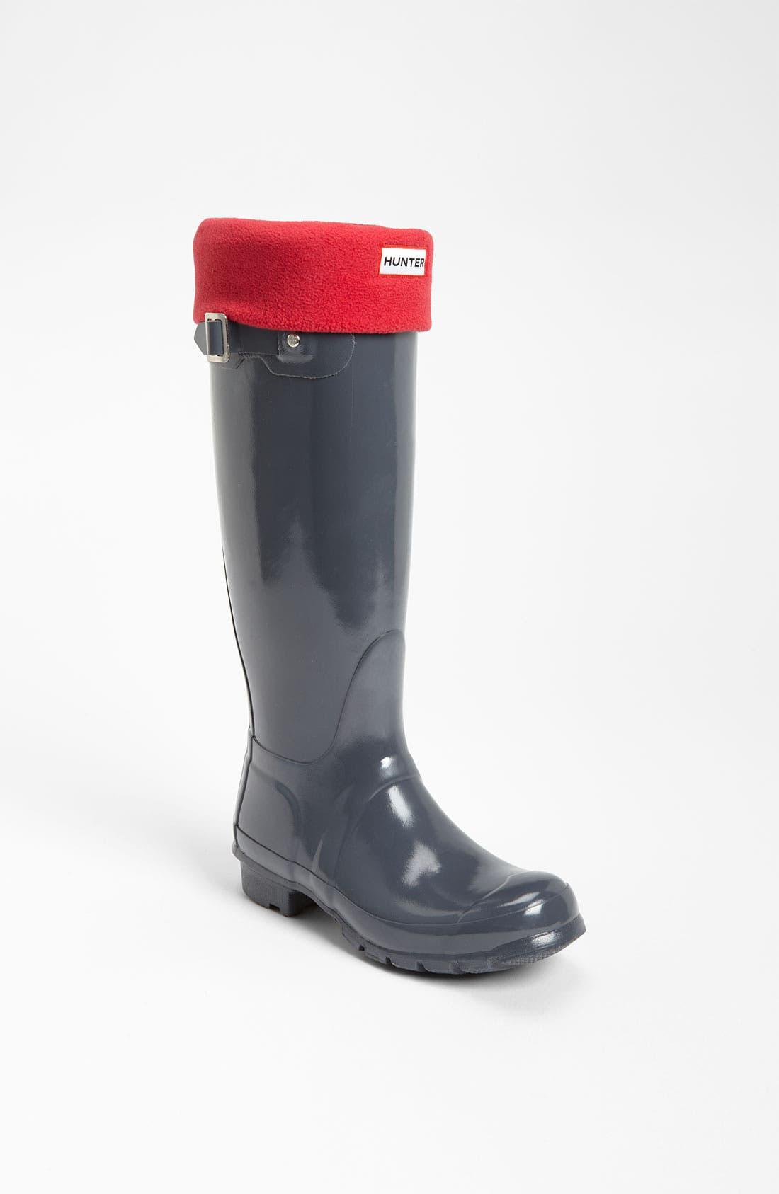 Alternate Image 1 Selected - Hunter Tall Gloss Rain Boot & Welly Socks
